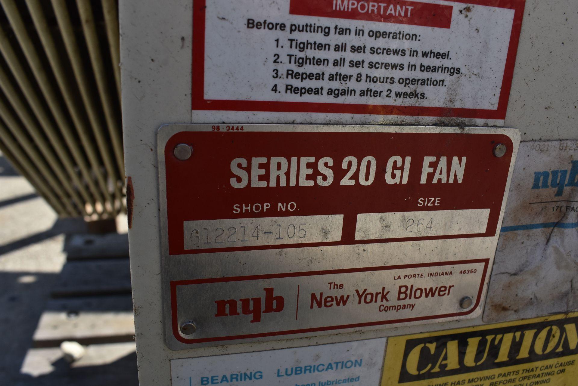 New York Blower Series 20 GI Fan, Size 264 w/Motor - Image 4 of 4