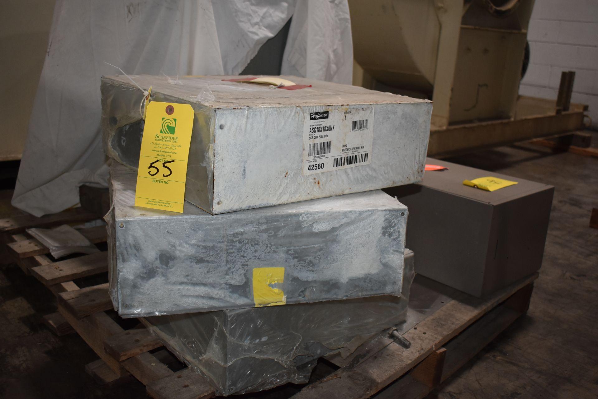 Qty. (3) Hoffman Catalog #ASG18x18x6NK Pull Boxes