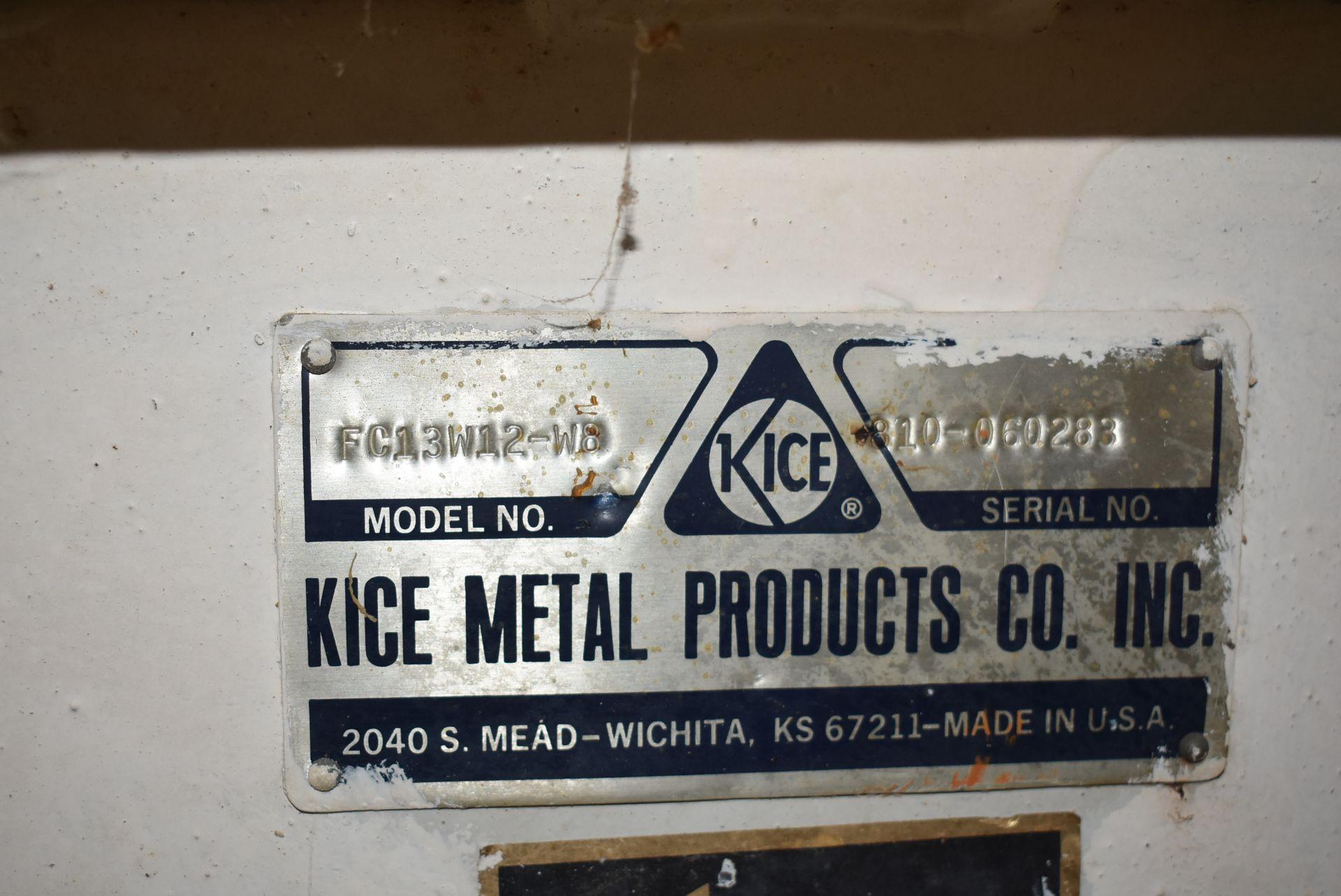 Kice Model #FC13W12-W8 Blower Unit, 15 HP Motor - Image 2 of 3