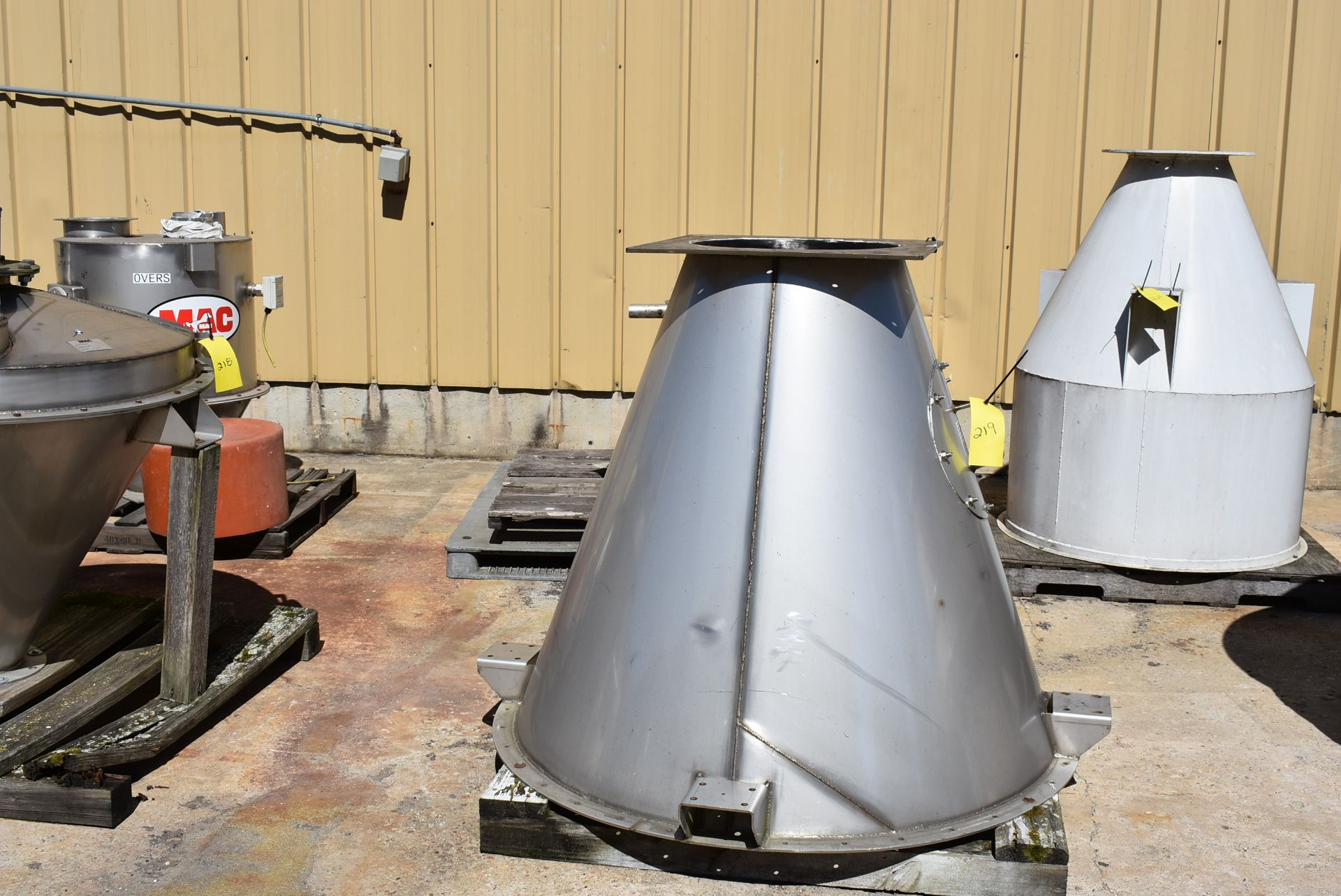 """Stainless Steel Cone Feeder, 60"""" Top, 48"""" Height - Image 2 of 2"""