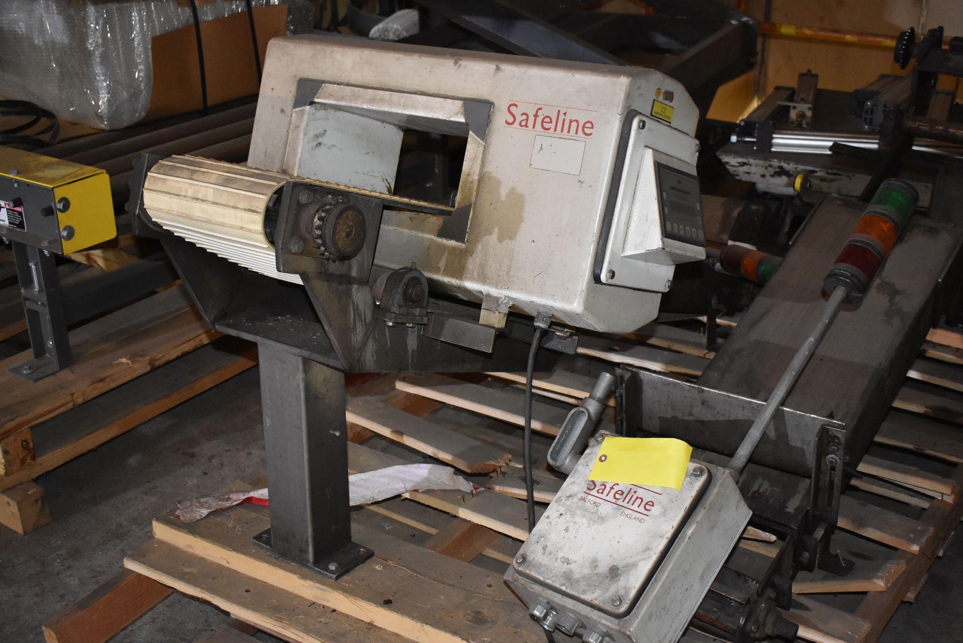"""Safeline Model #031-V2 Metal Detector, 13 1/2"""" x 6"""" Aperture, Includes Section of Conveyor"""