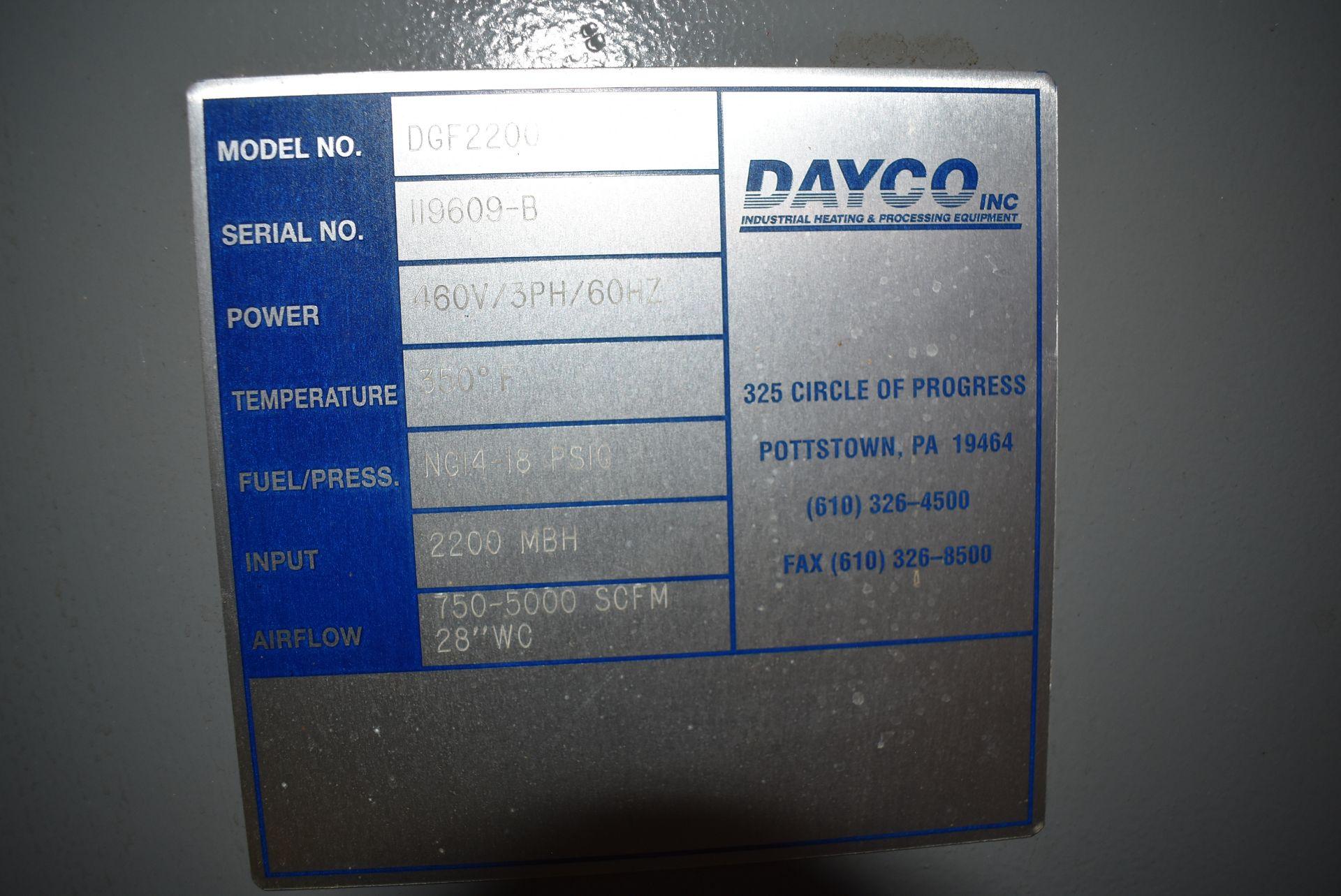 Dayco Model #DFG2200 Direct Fire Handling Unit, SN 119609-B - Image 2 of 5
