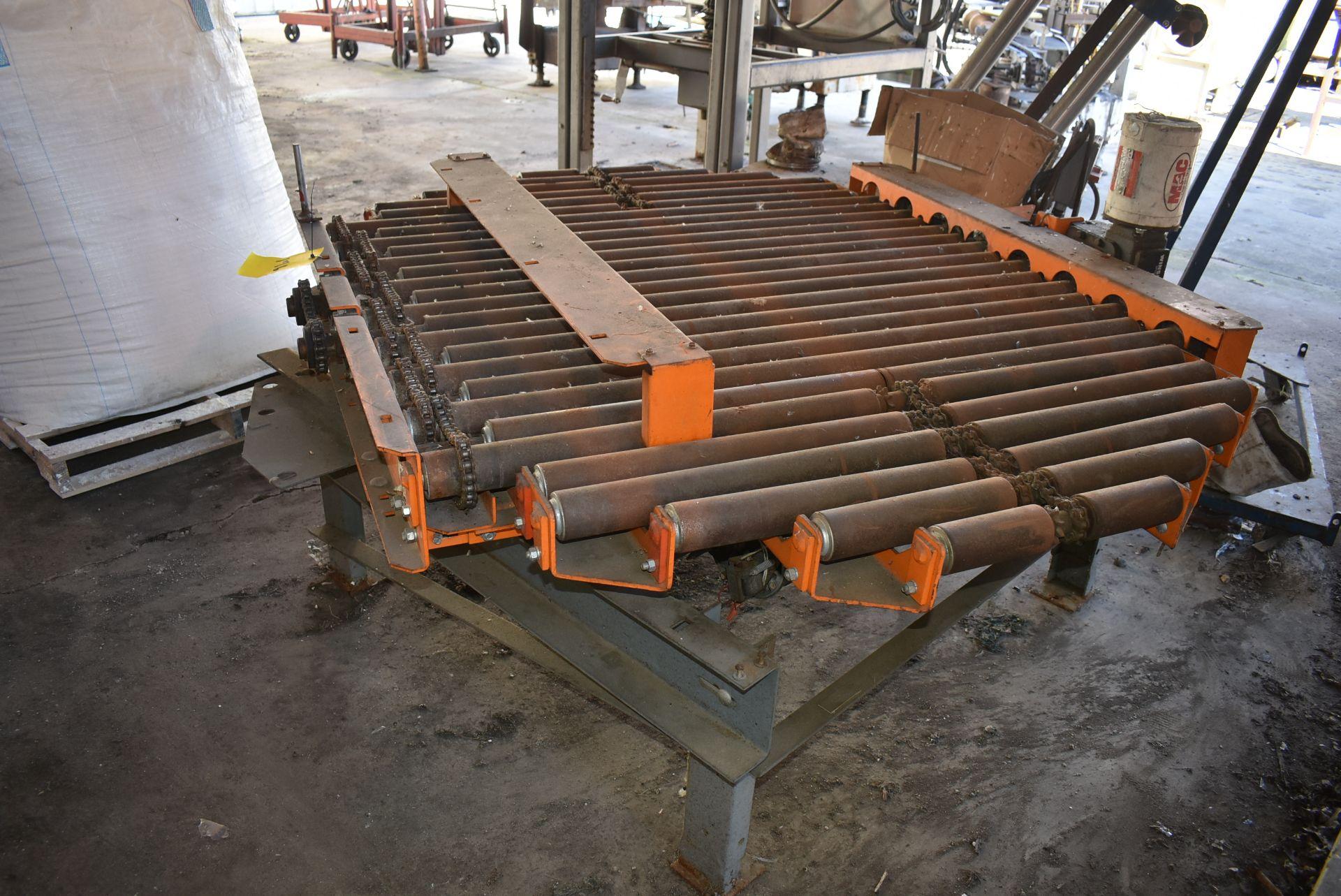 "Motorized HD Roller Conveyor, 72"" x 54"" Rollers, Steel Base - Image 2 of 2"