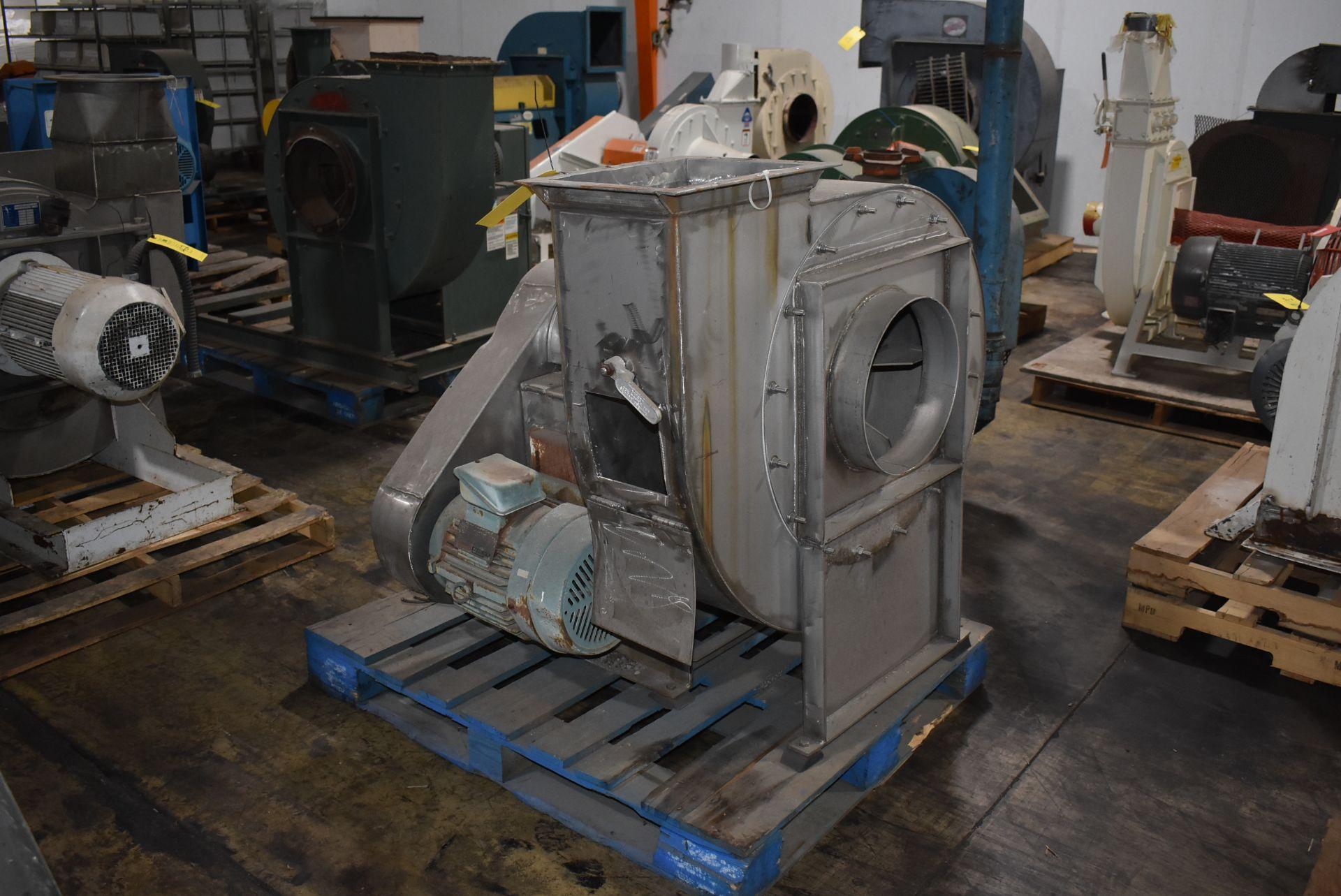 New York Blower, Series 20 GI Fan, Size 224 w/10 HP Motor, Stainless Steel Chute - Image 3 of 3