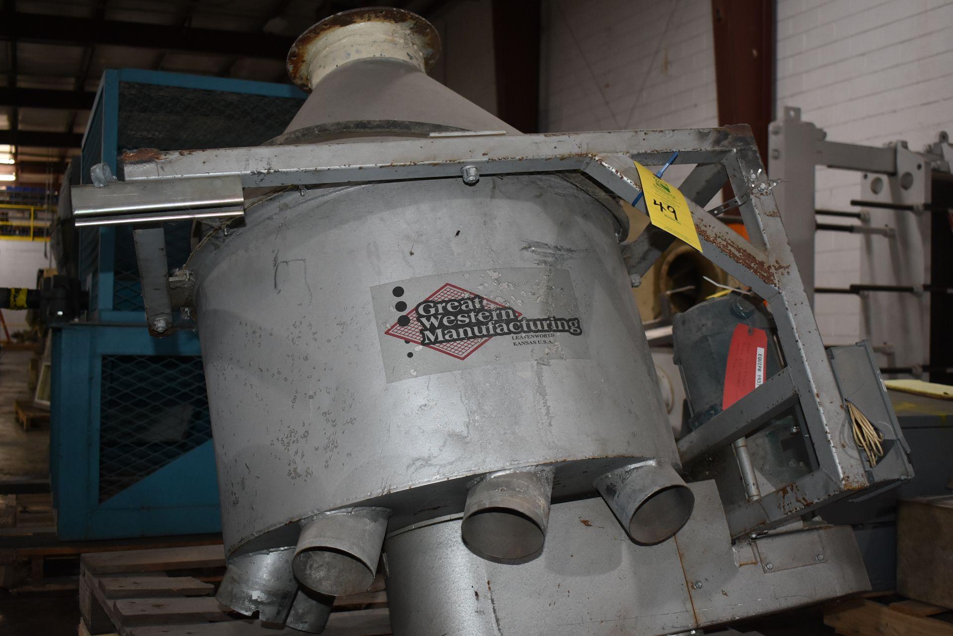 Great Western Hopper Distribution System, Stainless Steel Hopper w/Motor - Image 3 of 3