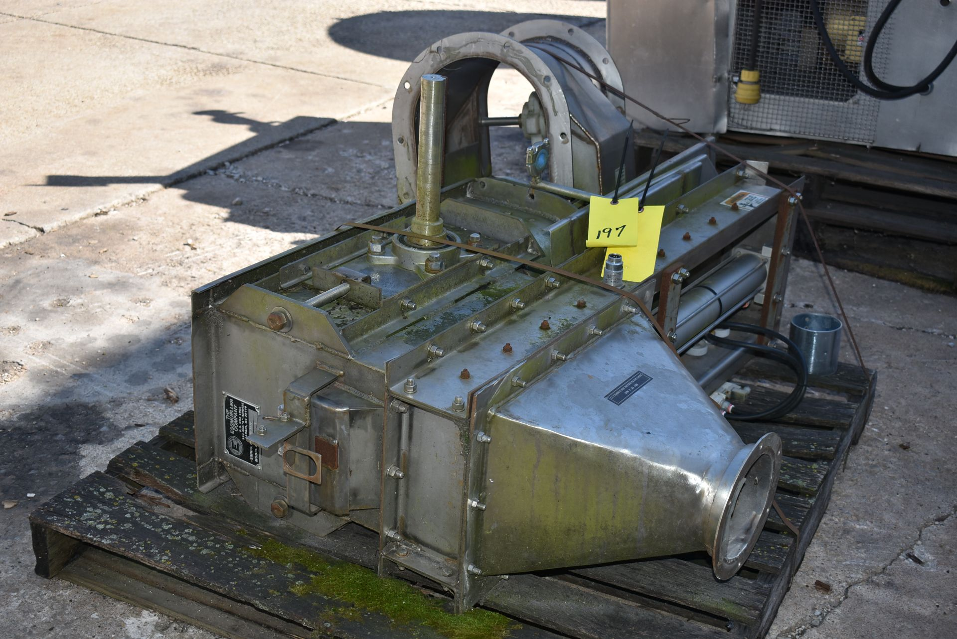 Essmueller Company SS Model #RB9-5 Hopper/Infeed Slide Gate - Image 4 of 4