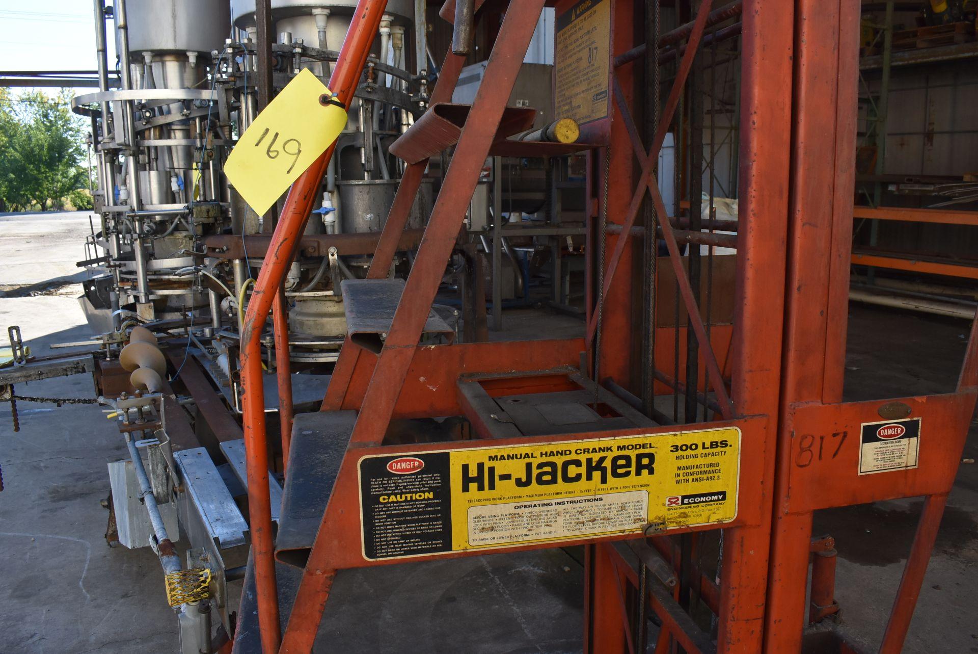 Economy Engineering Model Hi-Jacker Manual Telescoping Work Platform, Max Lift 15' Ht. - Image 2 of 3