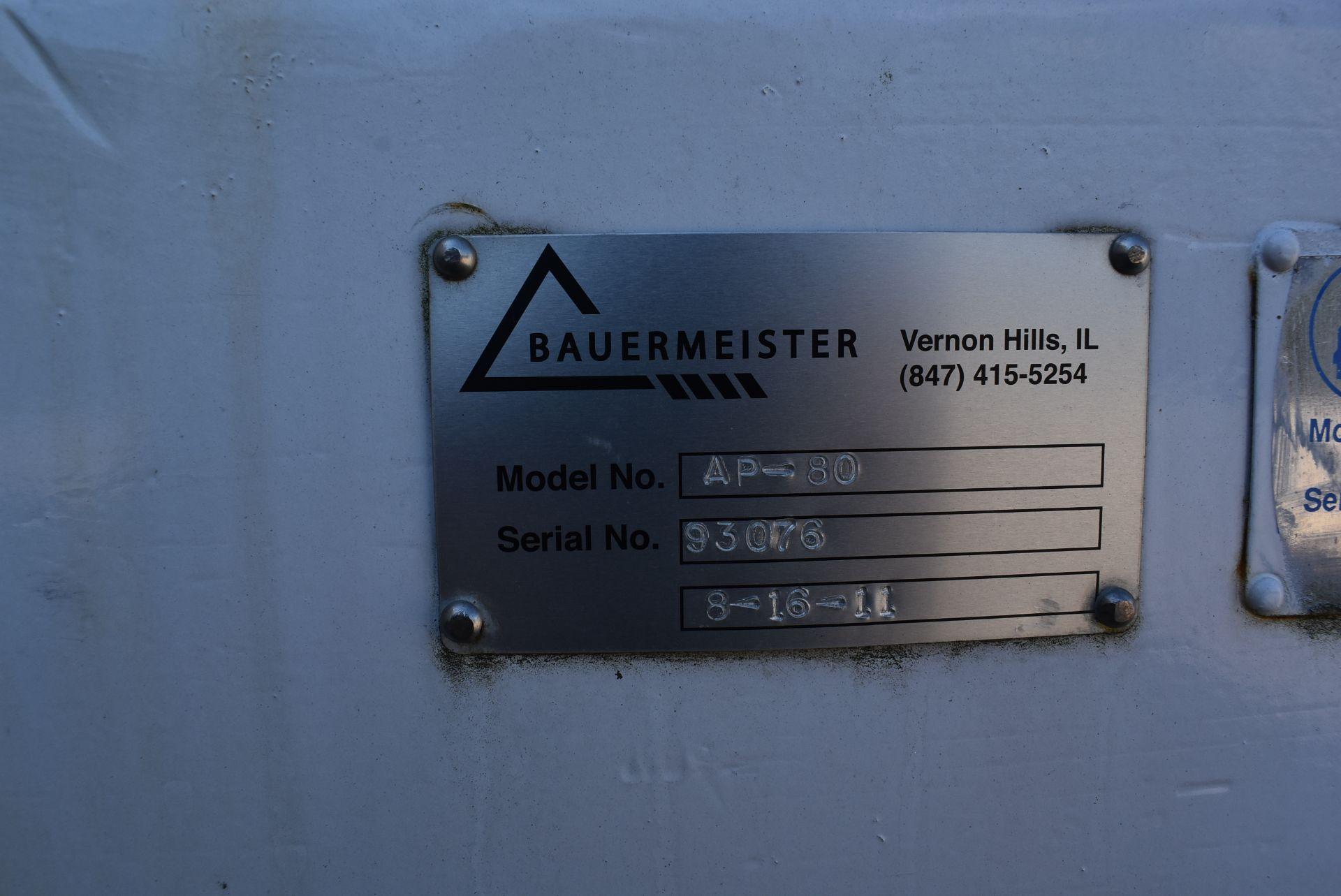 2011 Gebr. Bauermeister Type AP80 Comill Grinder, 75 HP Motor, SN 93076 - Image 2 of 3