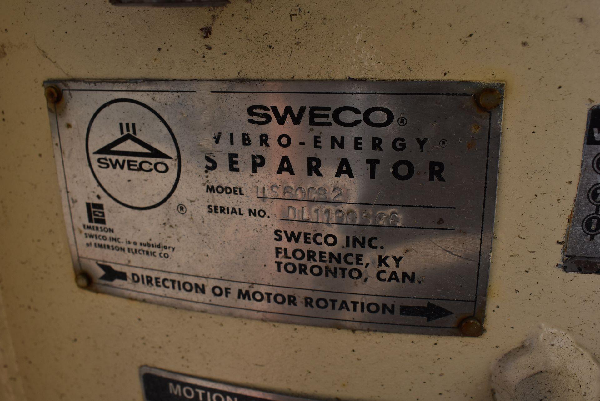SWECO Model #US60C82 Vibratory Separator - Image 2 of 3