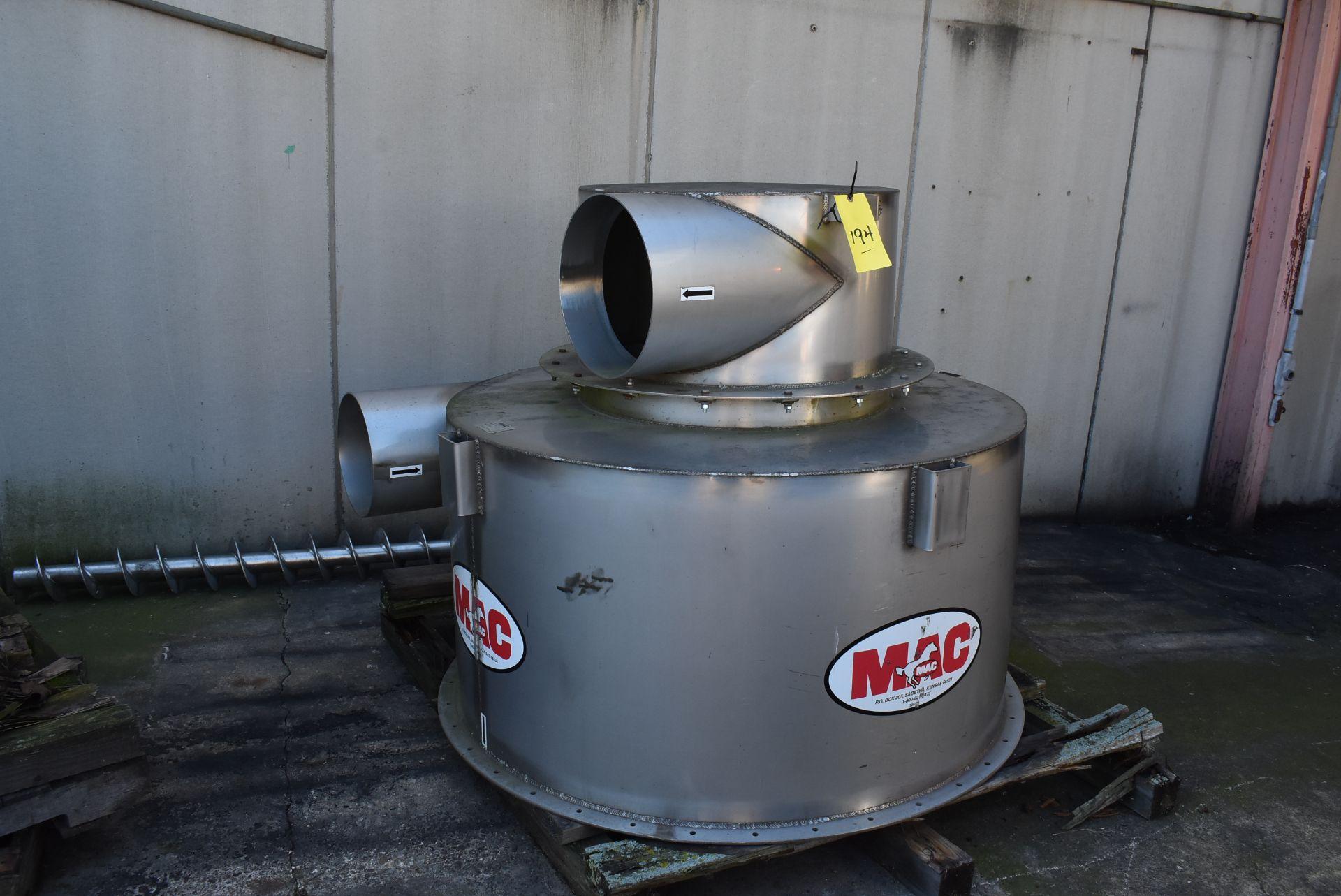 "MAC Model #CT51 Stainless Steel Component, 52"" Diameter"