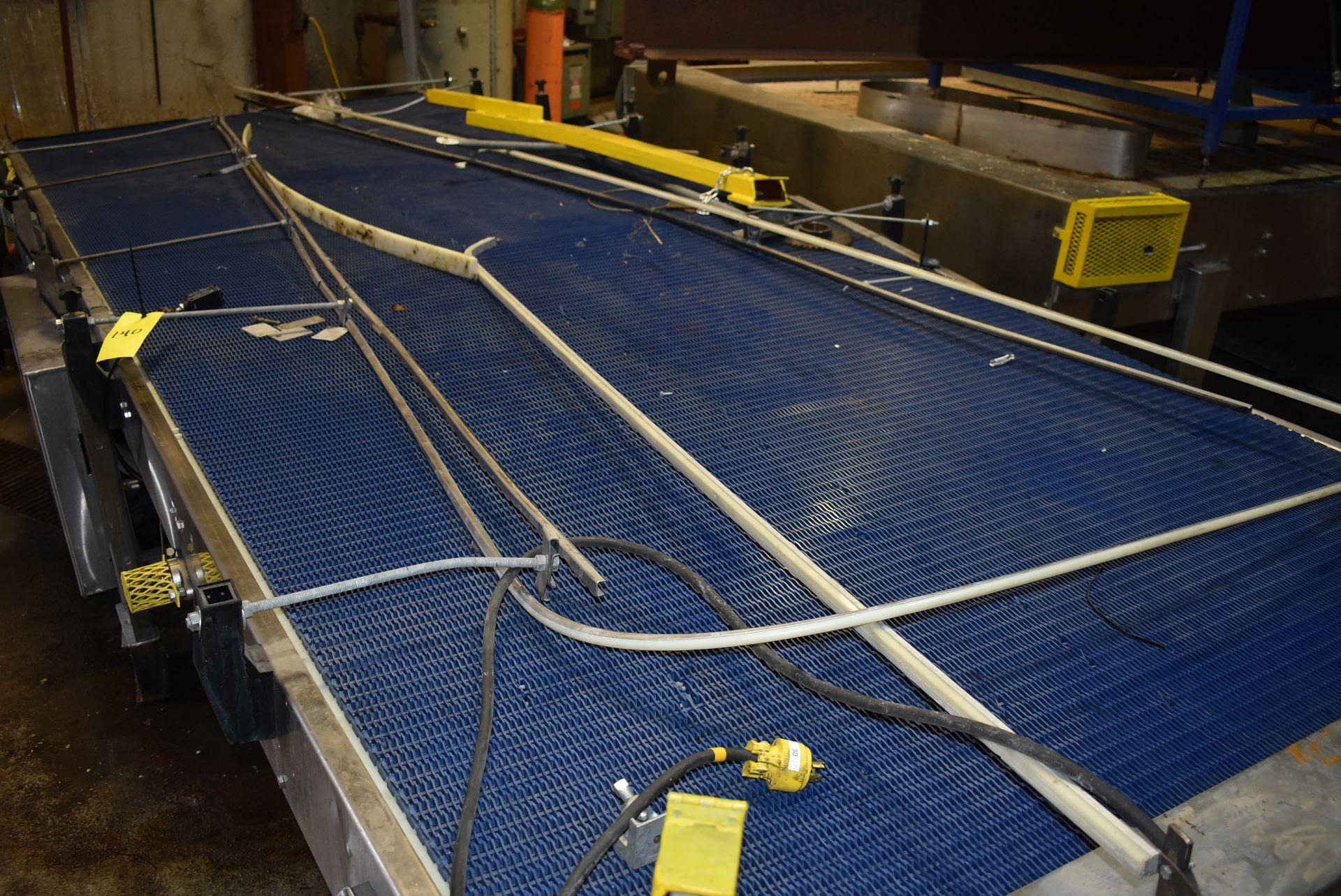 Motorized Belt Conveyor/Accumulation Table, 20' x 6' - Image 2 of 2