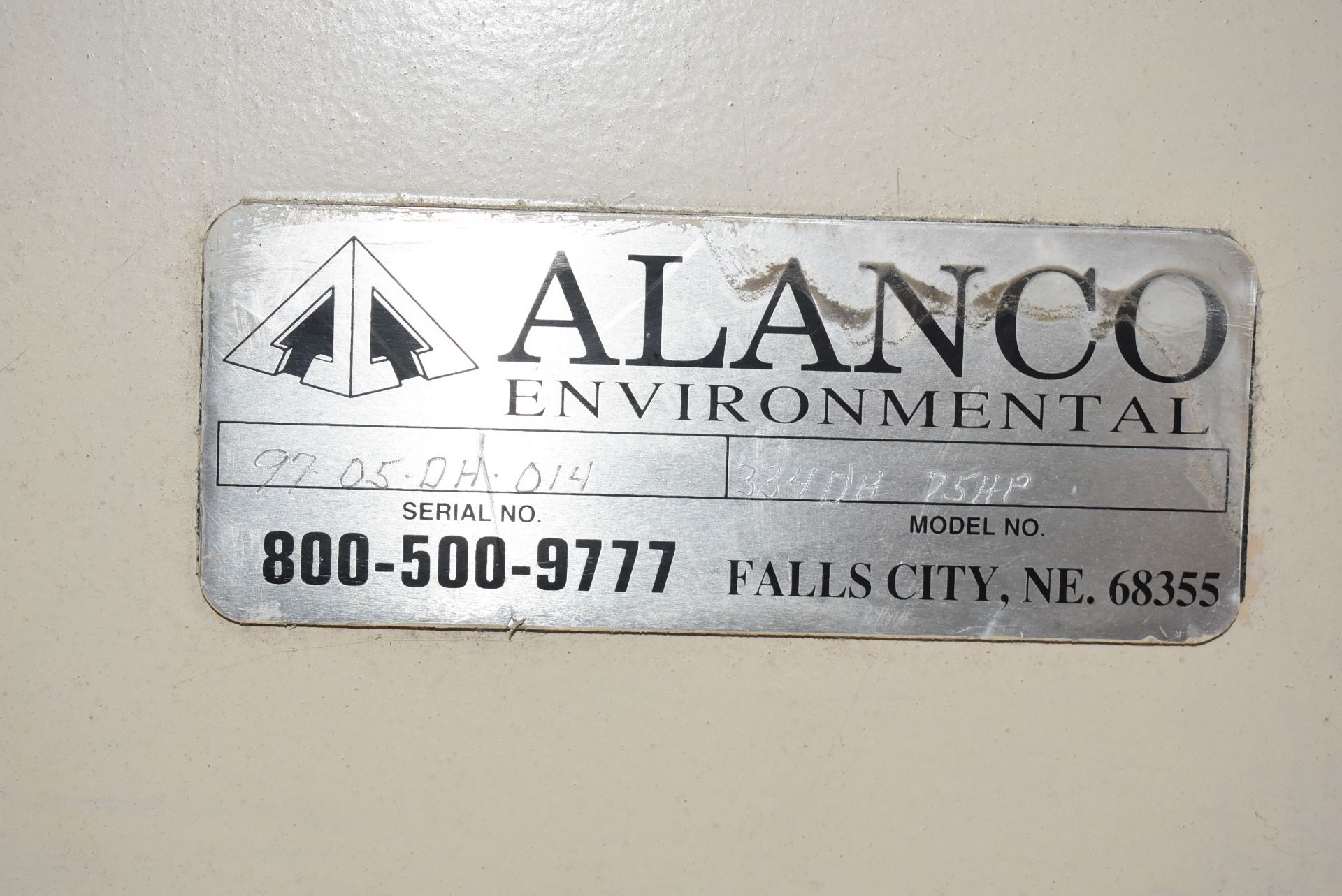 Alanco Environmental Model #334DH Blower w/50 HP Motor - Image 3 of 4