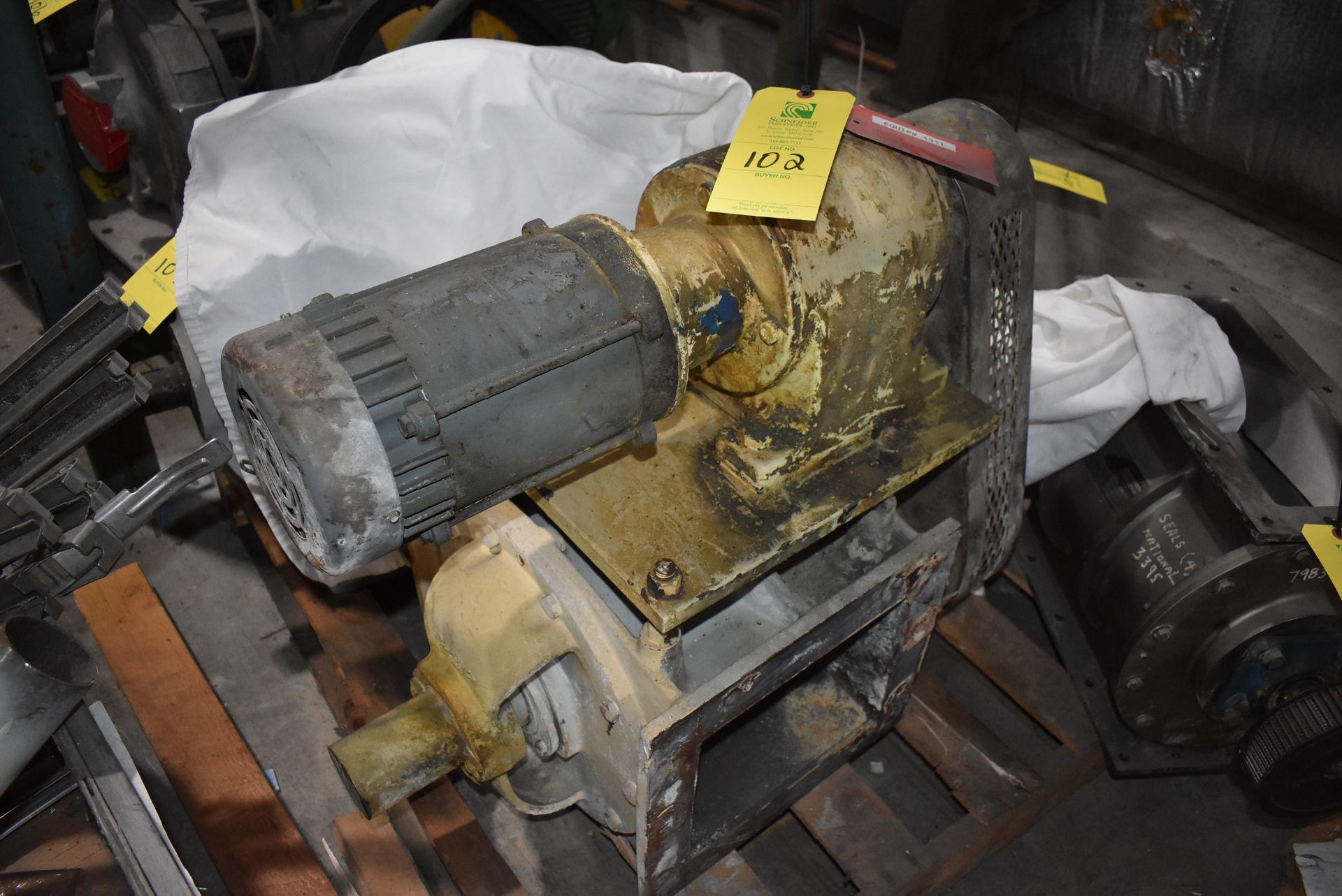 "Buhler Air Lock, Sz. 10"" x 8"", Includes 1 HP Motor"