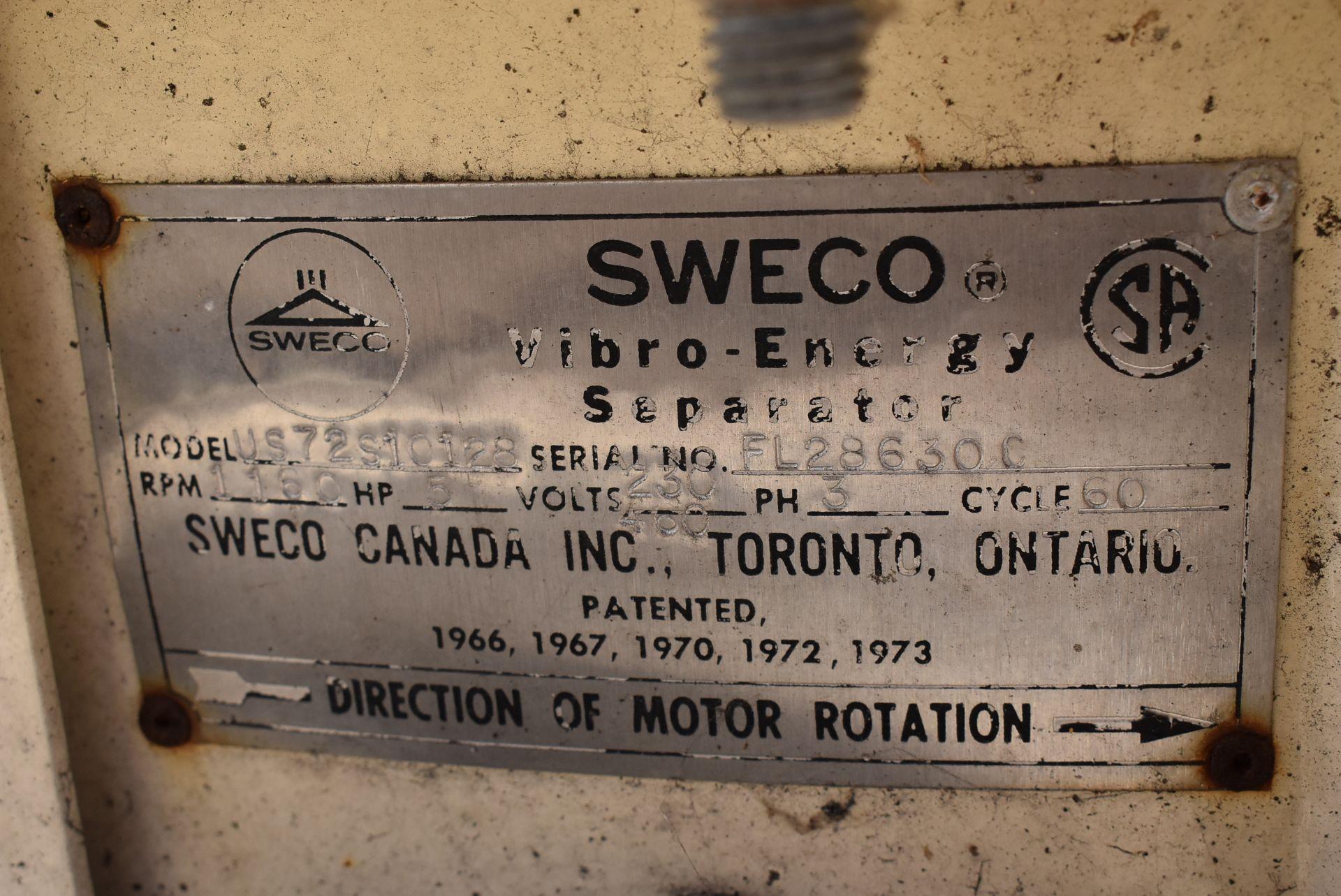 SWECO Model #US72510128 Vibratory Separator - Image 3 of 4