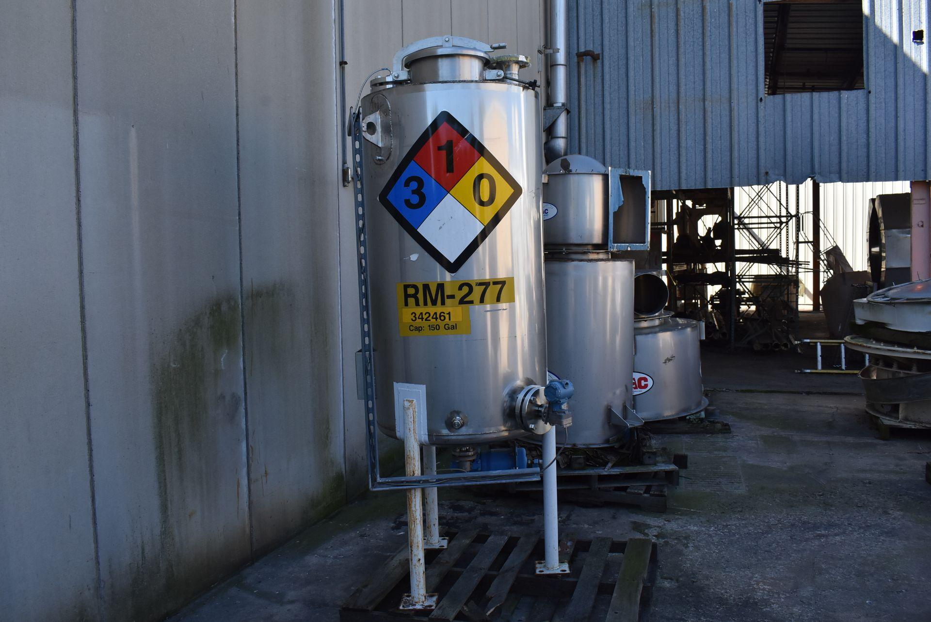 "Nova Fabricators Stainless Steel Tank, Rated 150 Gallon, 2' 6"" Diameter - Image 4 of 4"