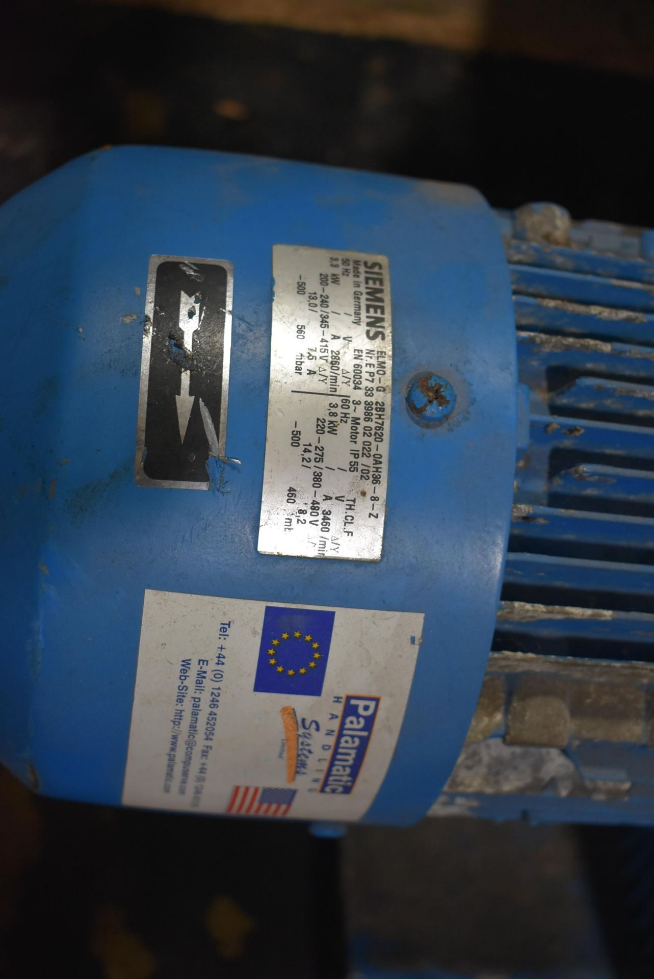 Palamatic Handling Systems w/Siemens Vacuum Unit - Image 3 of 3