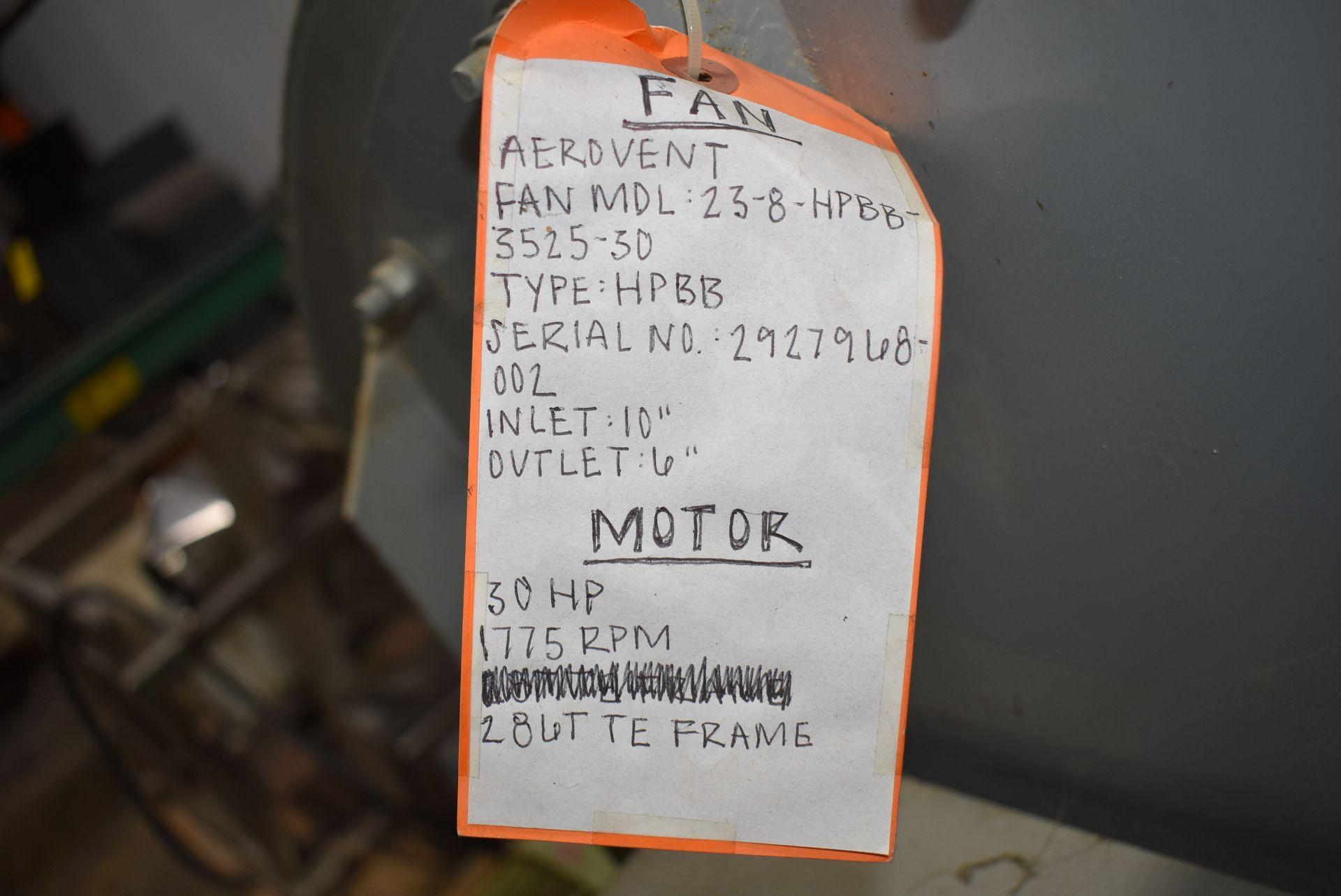 Aerovent Type HPBB Blower w/30 HP Motor - Image 2 of 3