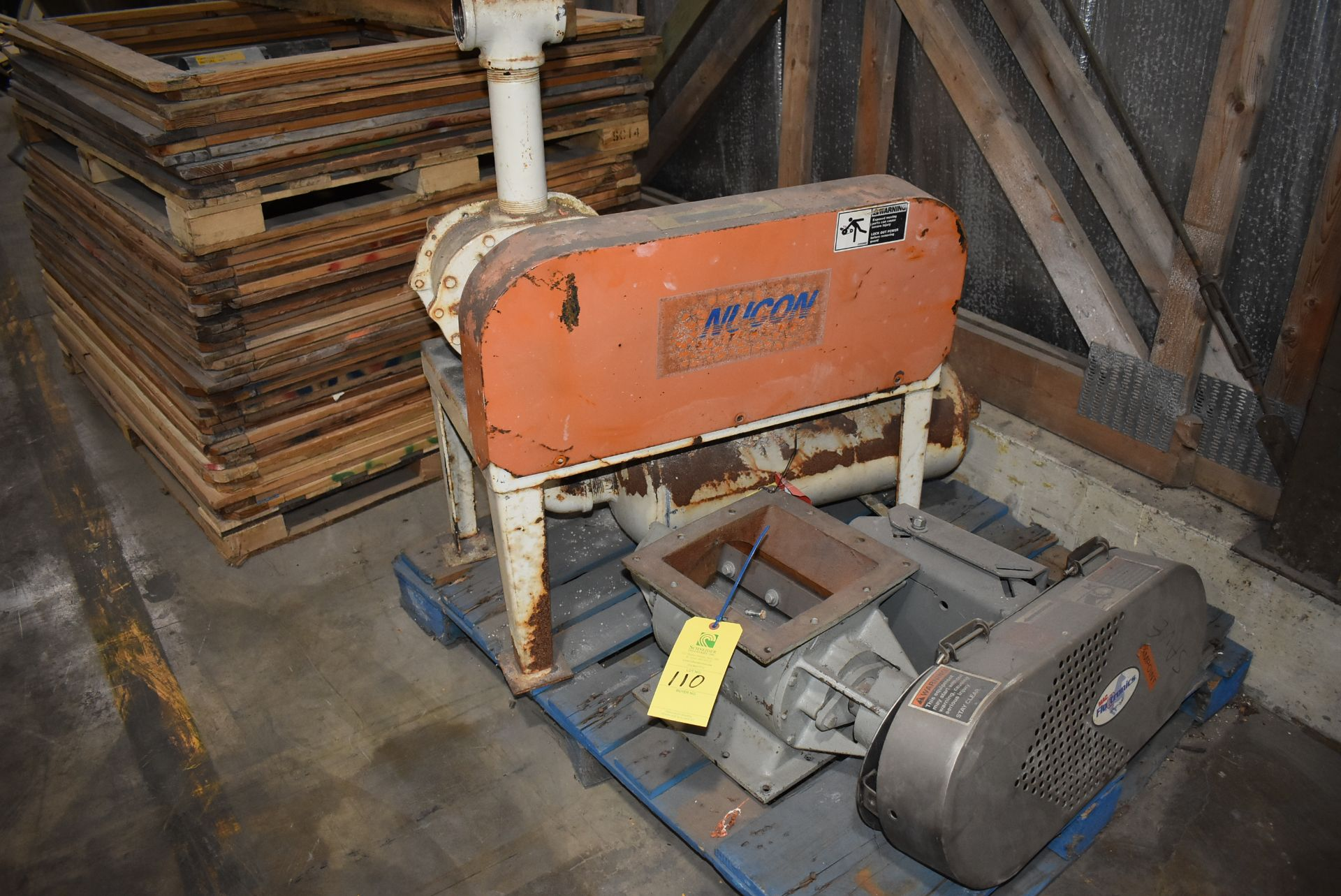 Plant Support Consisting of Air Lock, Base, 7 1/2 HP Motor