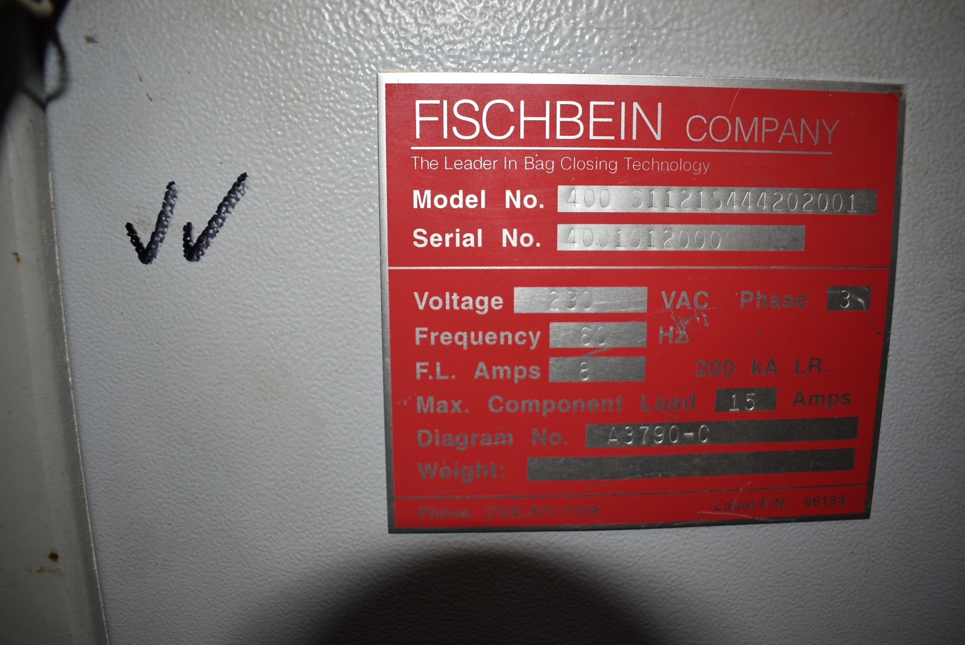 Fischbein Model #400 Series Industrial Sewing Machine - Image 2 of 2