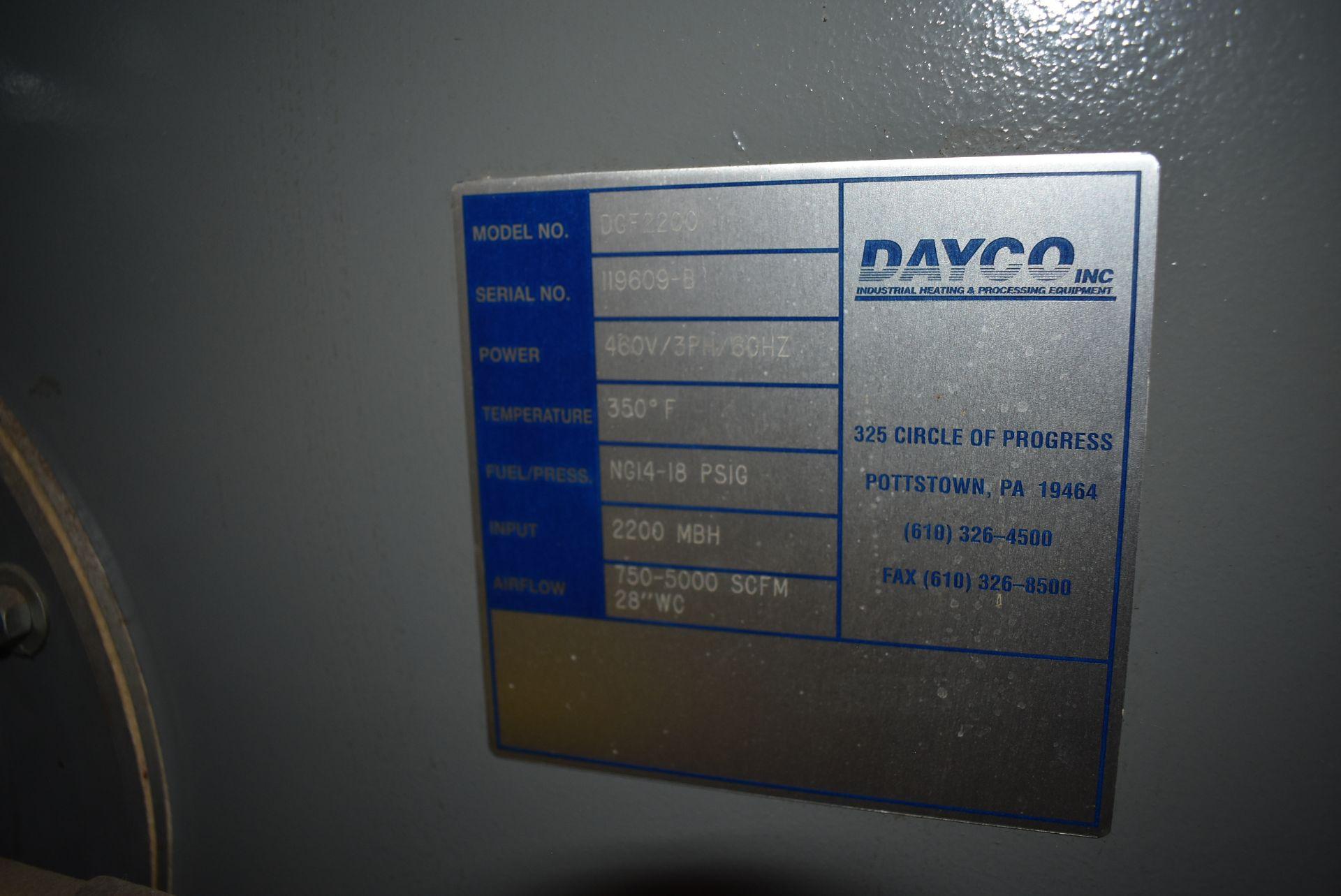 Dayco Model #DFG2200 Direct Fire Handling Unit, SN 119609-B - Image 3 of 5