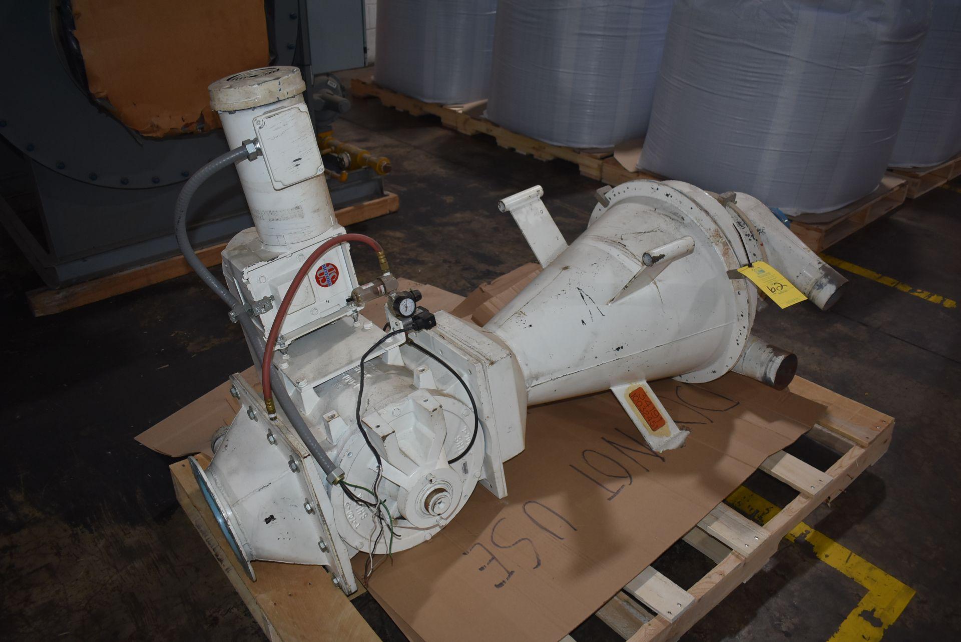 Hopper/Air Lock with 3/4 HP Motor