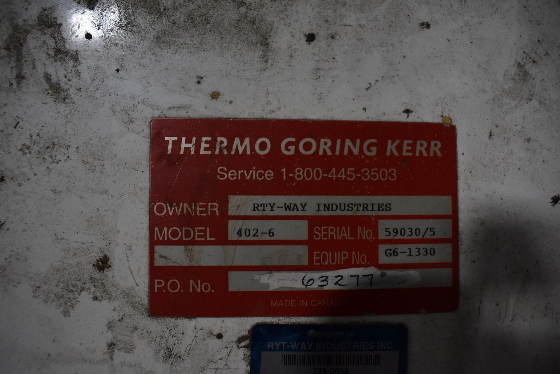Goring Kerr Model #402-6 Metal Detection System, SS Stand - Image 2 of 3
