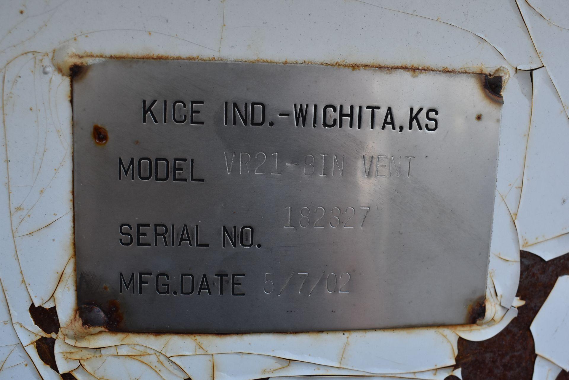 Kice Model #VR21 Bin Vent, SN 182327 - Image 2 of 3