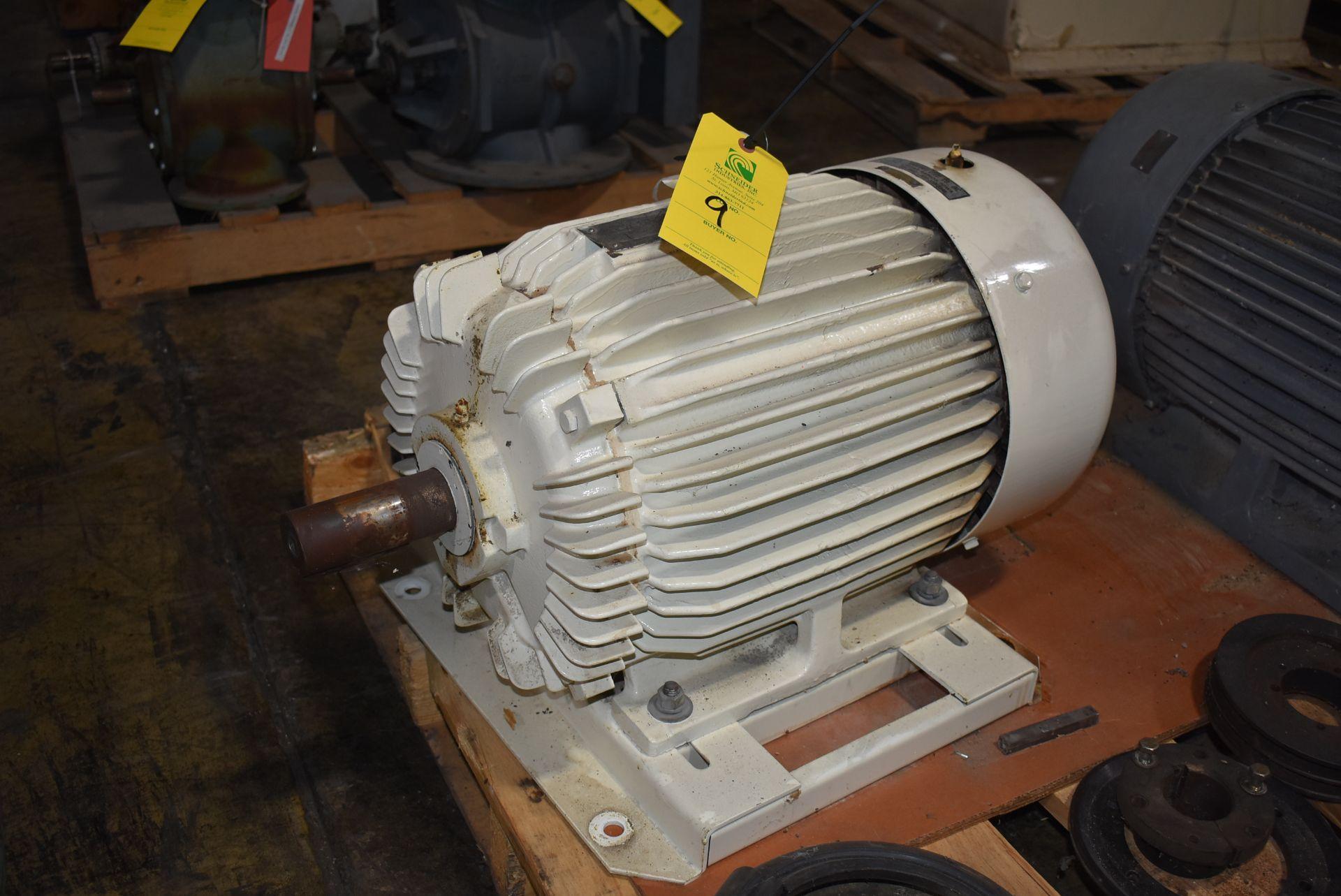 Toshiba 30 HP Motor, 230/460 Volt, 1750 RPM