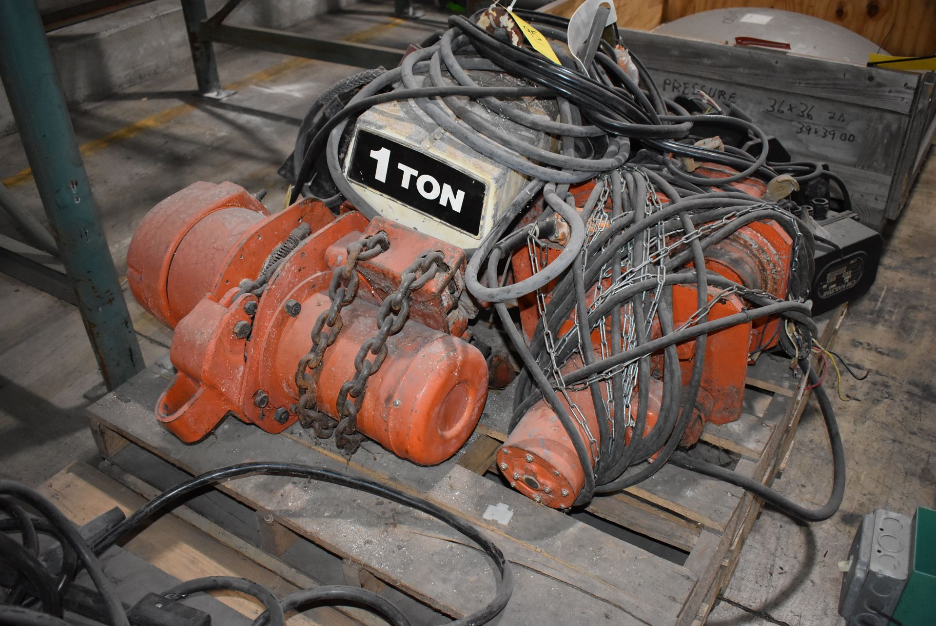 Plant Support - (4) Material Handling Hoists, (1) CW Railstar Trolley - Image 2 of 3