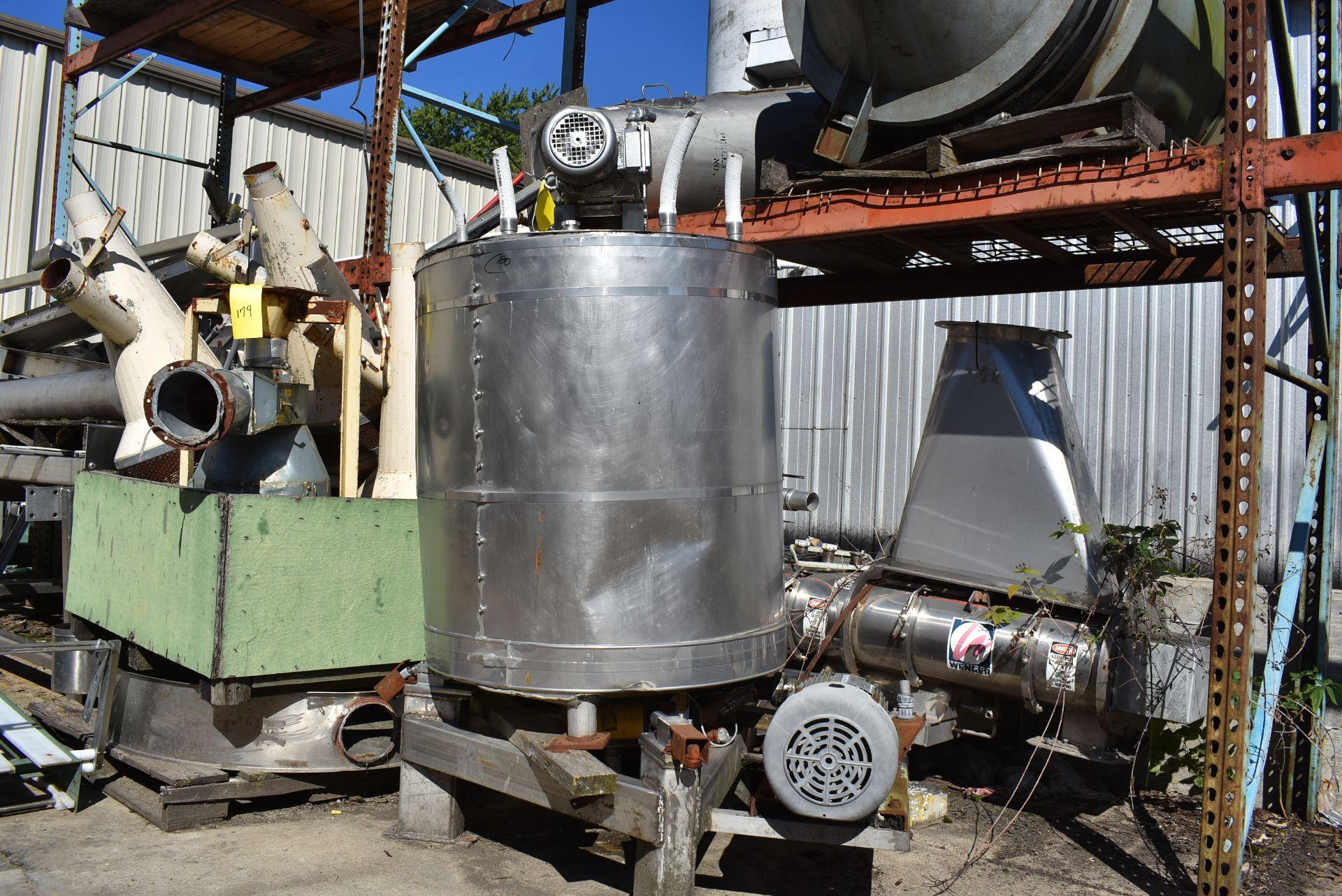 "Stainless Steel Tank, 30"" Diameter x 36"" Top - Flat Bottom, 3 HP Motor & Pump, Includes Mixer - Image 3 of 3"