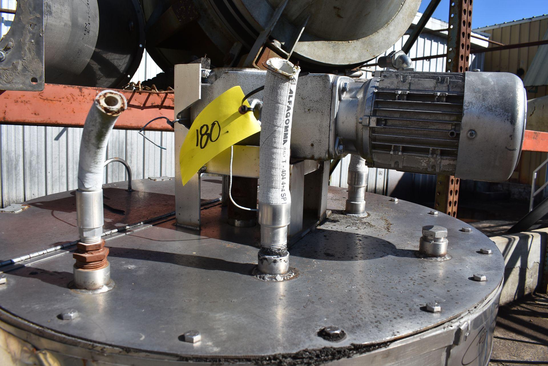 "Stainless Steel Tank, 30"" Diameter x 36"" Top - Flat Bottom, 3 HP Motor & Pump, Includes Mixer - Image 2 of 3"