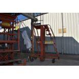 Economy Engineering Model Hi-Jacker Manual Telescoping Work Platform, Max Lift 15' Ht.
