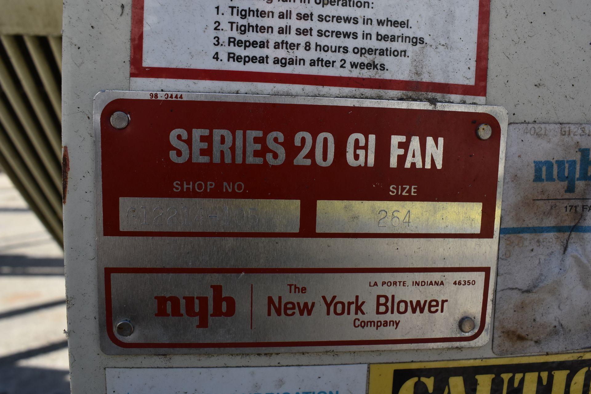 New York Blower Series 20 GI Fan, Size 264 w/Motor - Image 3 of 4