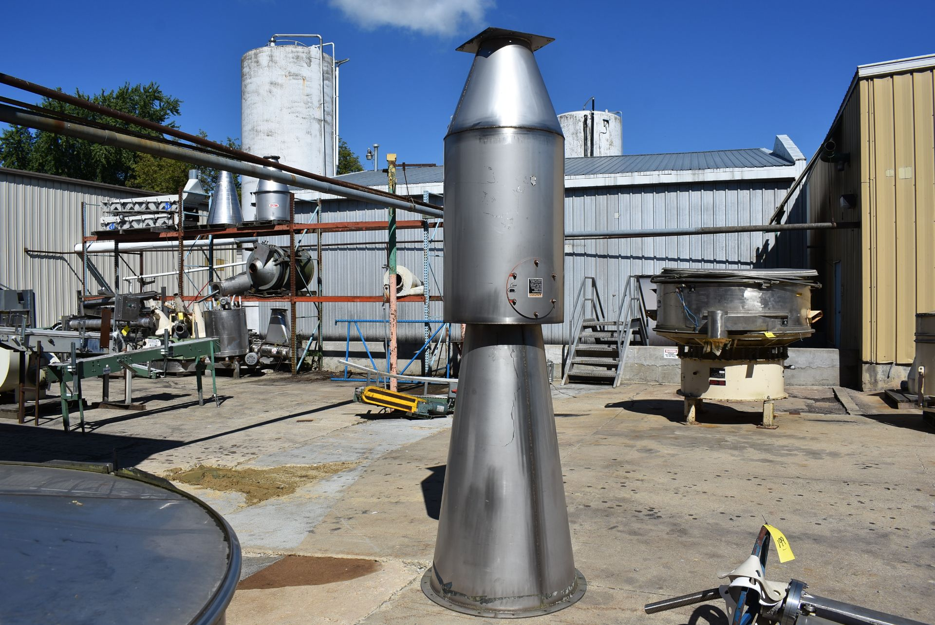 Stainless Steel Hopper, 9' Top to Bottom and MAC SS Air Flow Component - Image 3 of 4