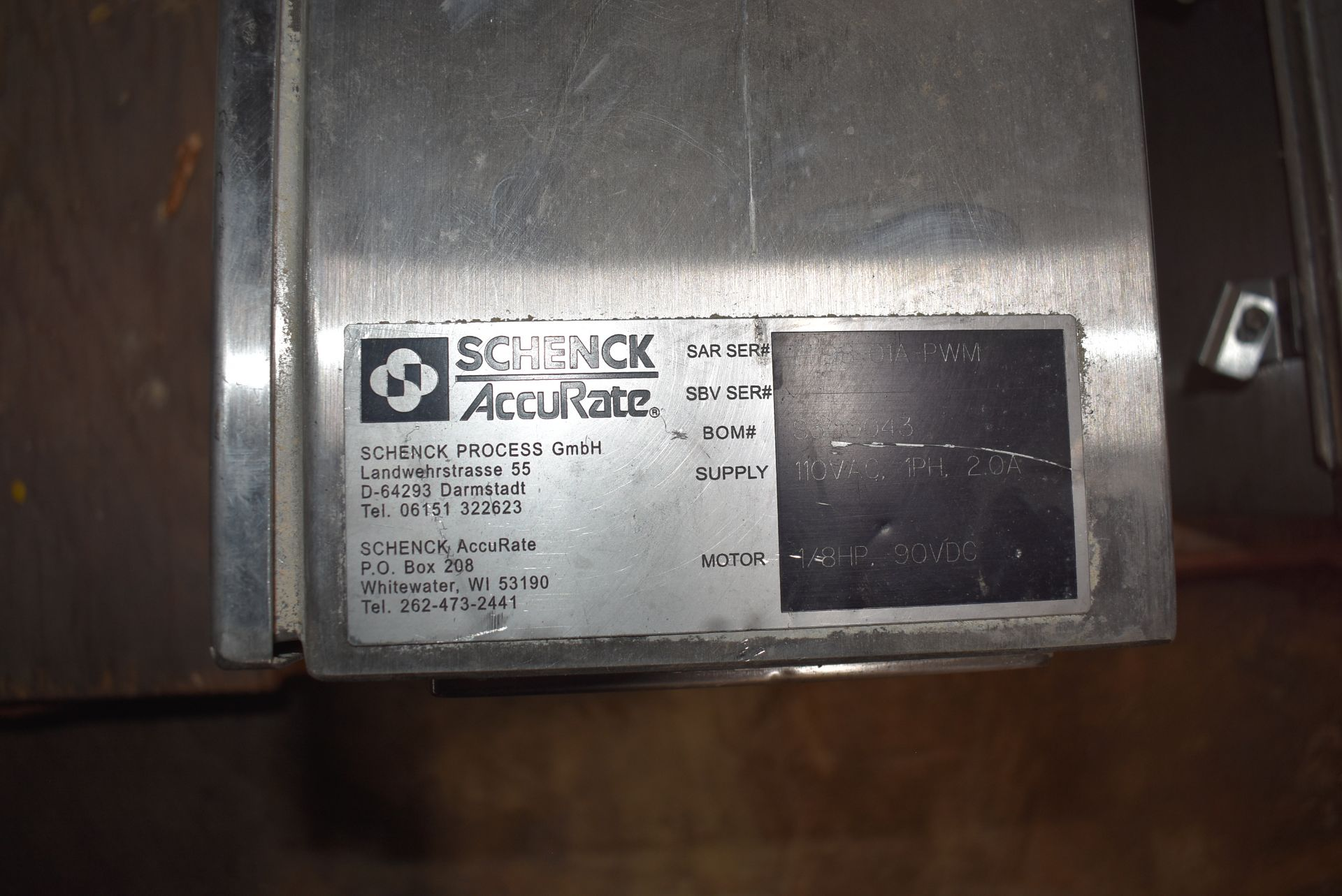 Schenck/Accrate Hopper, Feeder, and Hardy Instruments Control - Image 2 of 3
