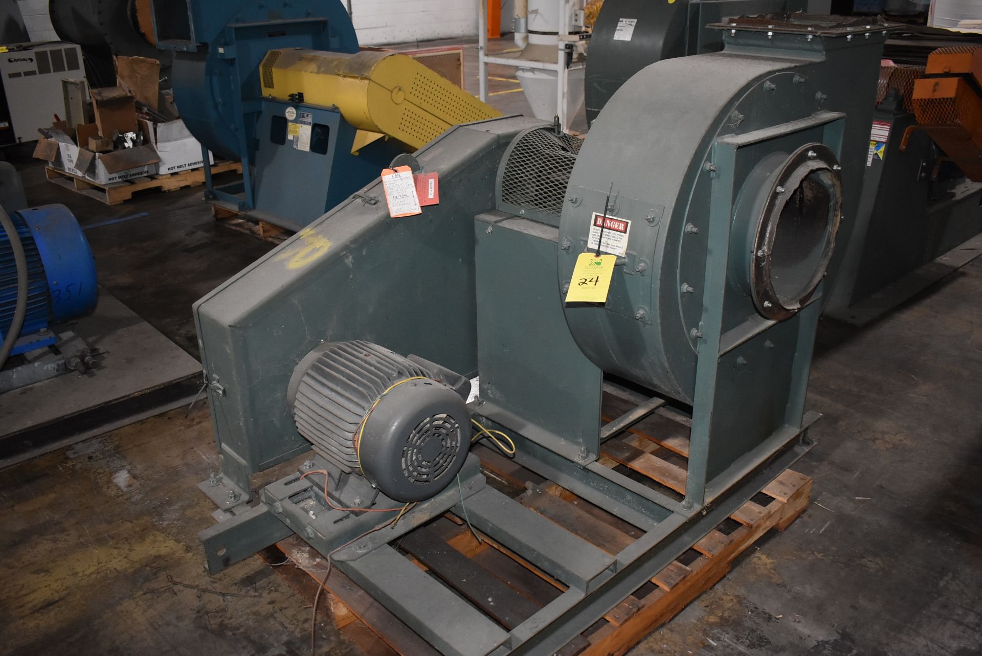 New York Blower, Size 224-OH w/15 HP Motor