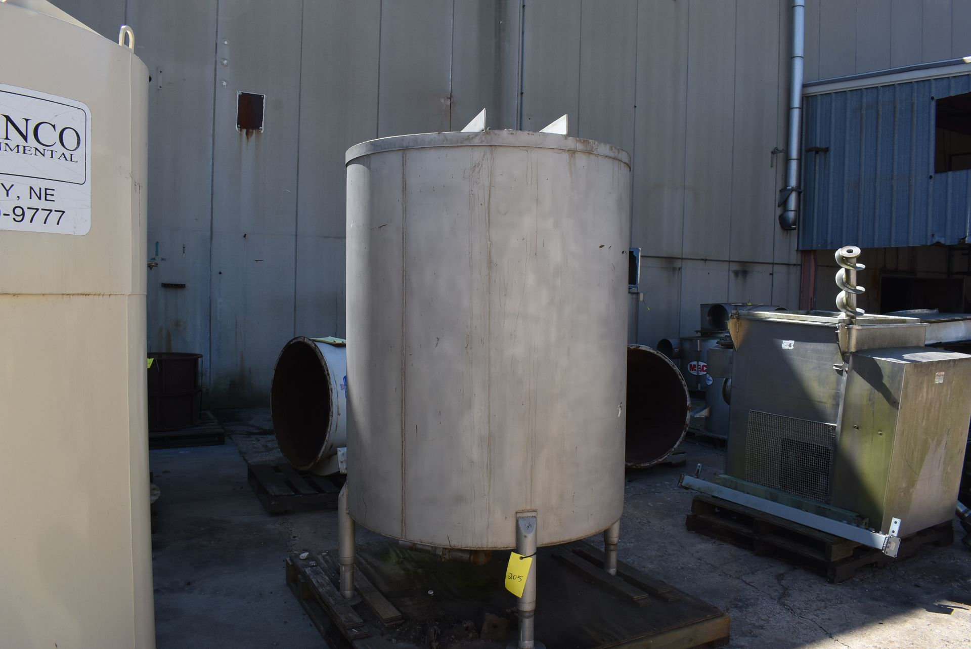 """Stainless Steel Tank, Rated 400 Gallons, 48"""" Diameter x 60"""" - Image 5 of 5"""