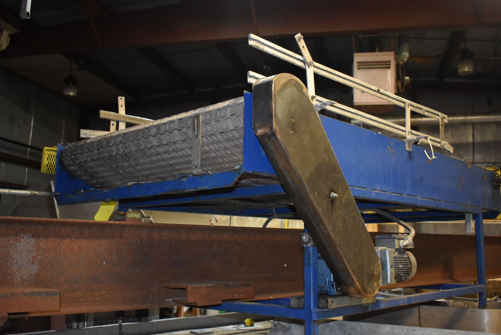 Impass Motorized Belt Conveyor, 8' x 4' - Image 2 of 2