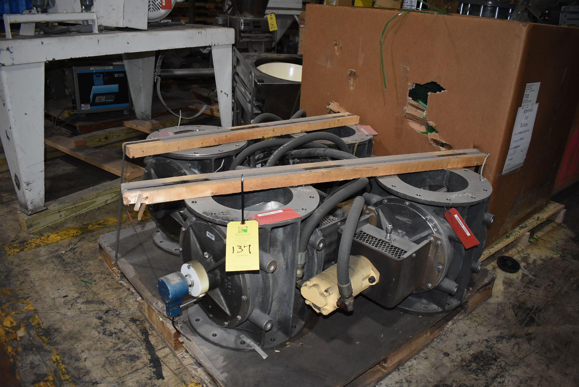 Qty. (4) Buhler Model #USP-50 Air Locks, Hydraulic Motors