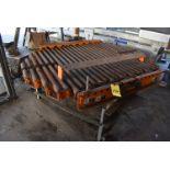 """Motorized HD Roller Conveyor, 72"""" x 54"""" Rollers, Steel Base"""