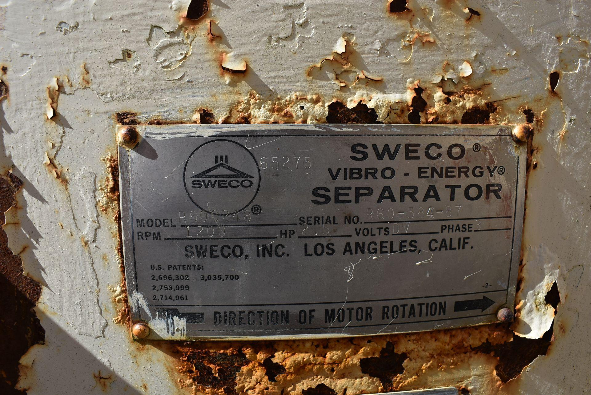 SWECO Model #R60C248 Vibratory Separator - Image 2 of 3