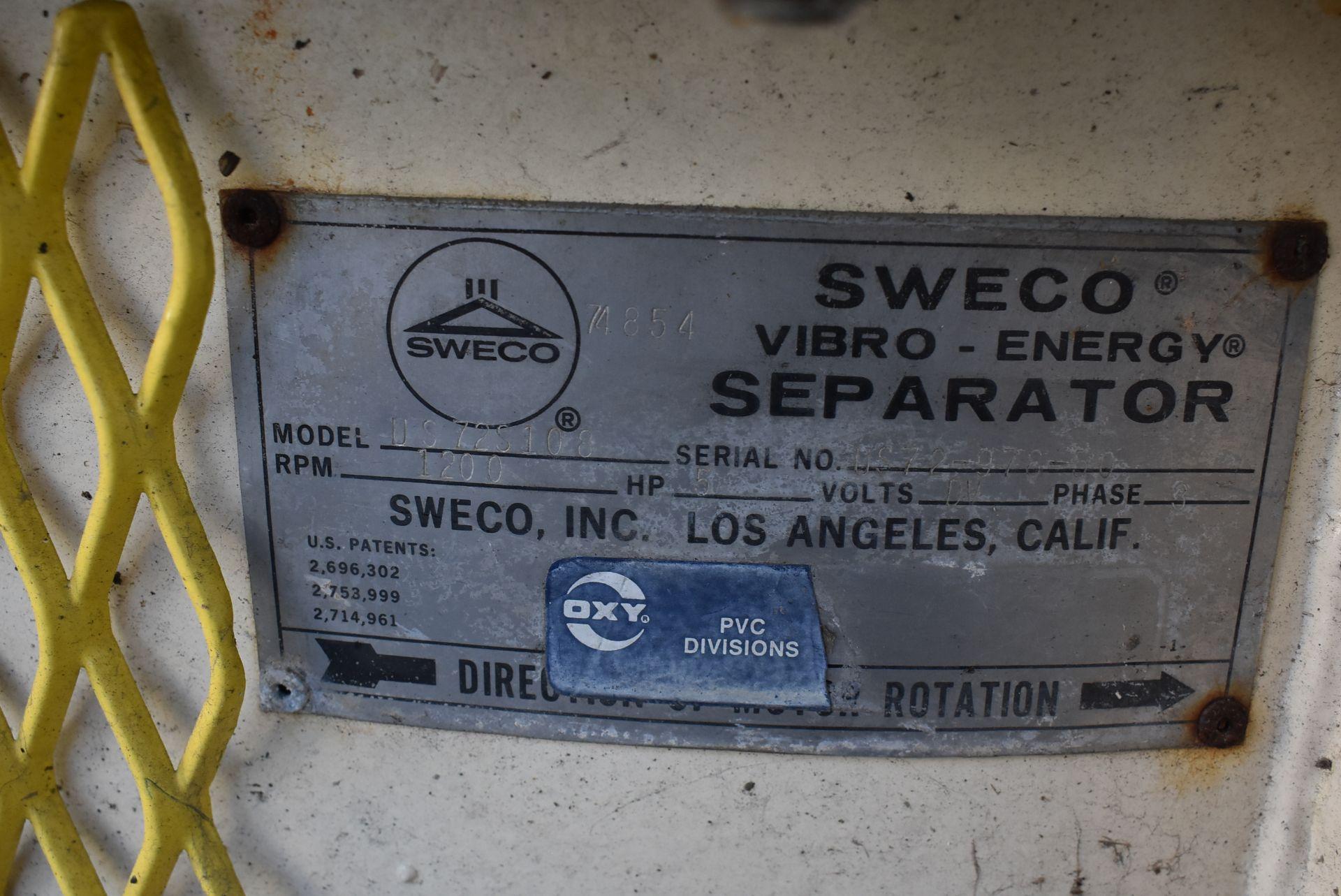 SWECO Model #US72S108 Vibratory Separator, SN 978-50 - Image 2 of 3