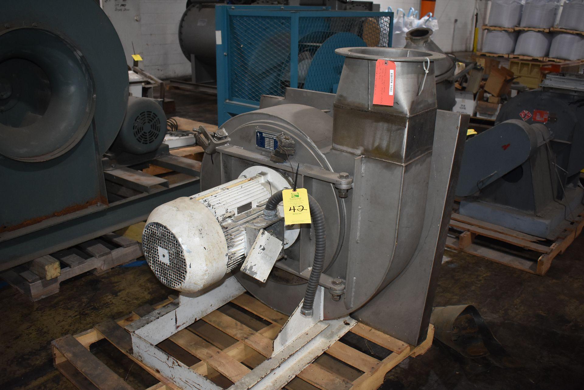 Fan Type RVM/S Blower w/Siemens 10 HP Motor, Stainless Steel Chute