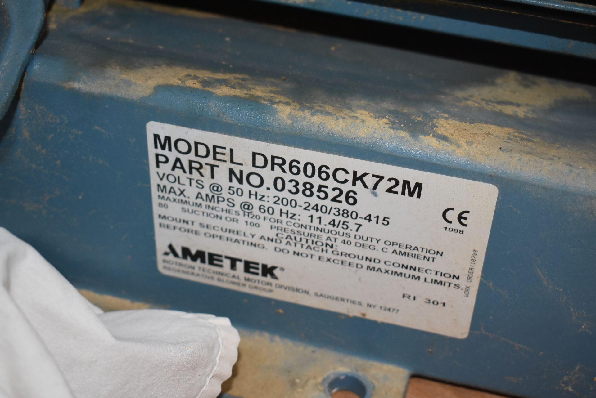 Ametek EG Rotron Model #DR606CK72M Blower w/Motor - Image 2 of 3