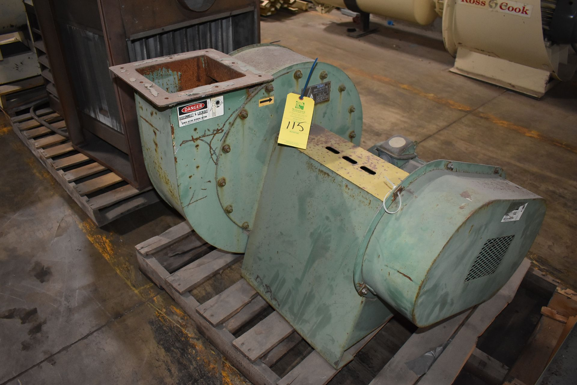 Application Company Model #25-4 Blower w/10 HP Motor