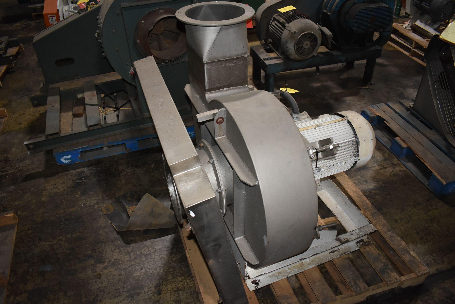 Fan Type RVM/S Blower w/Siemens 10 HP Motor, Stainless Steel Chute - Image 3 of 3