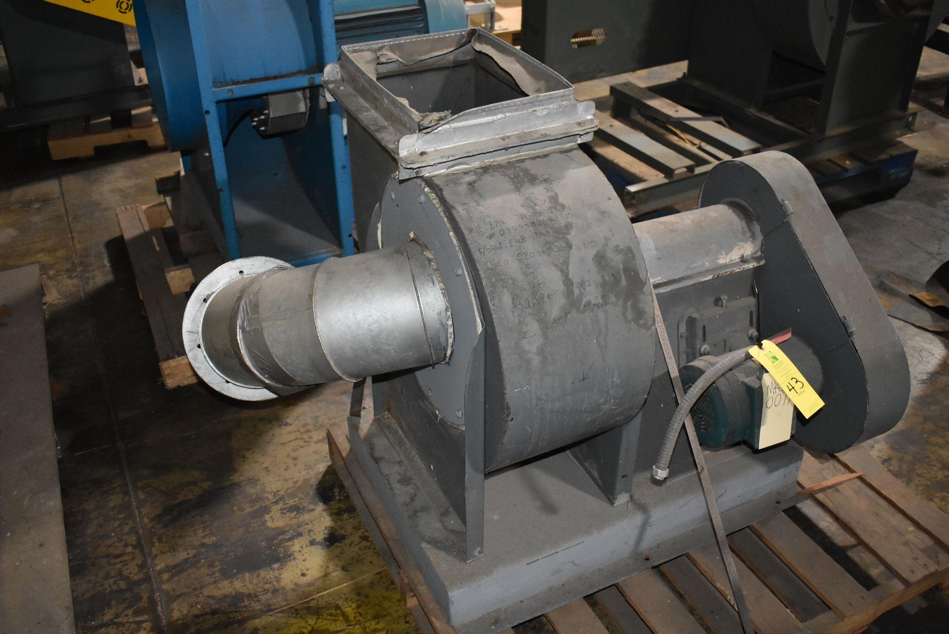 Porter/Peerless Model #150 Blower, Rated 2180 CFM w/2 HP Motor - Image 3 of 3