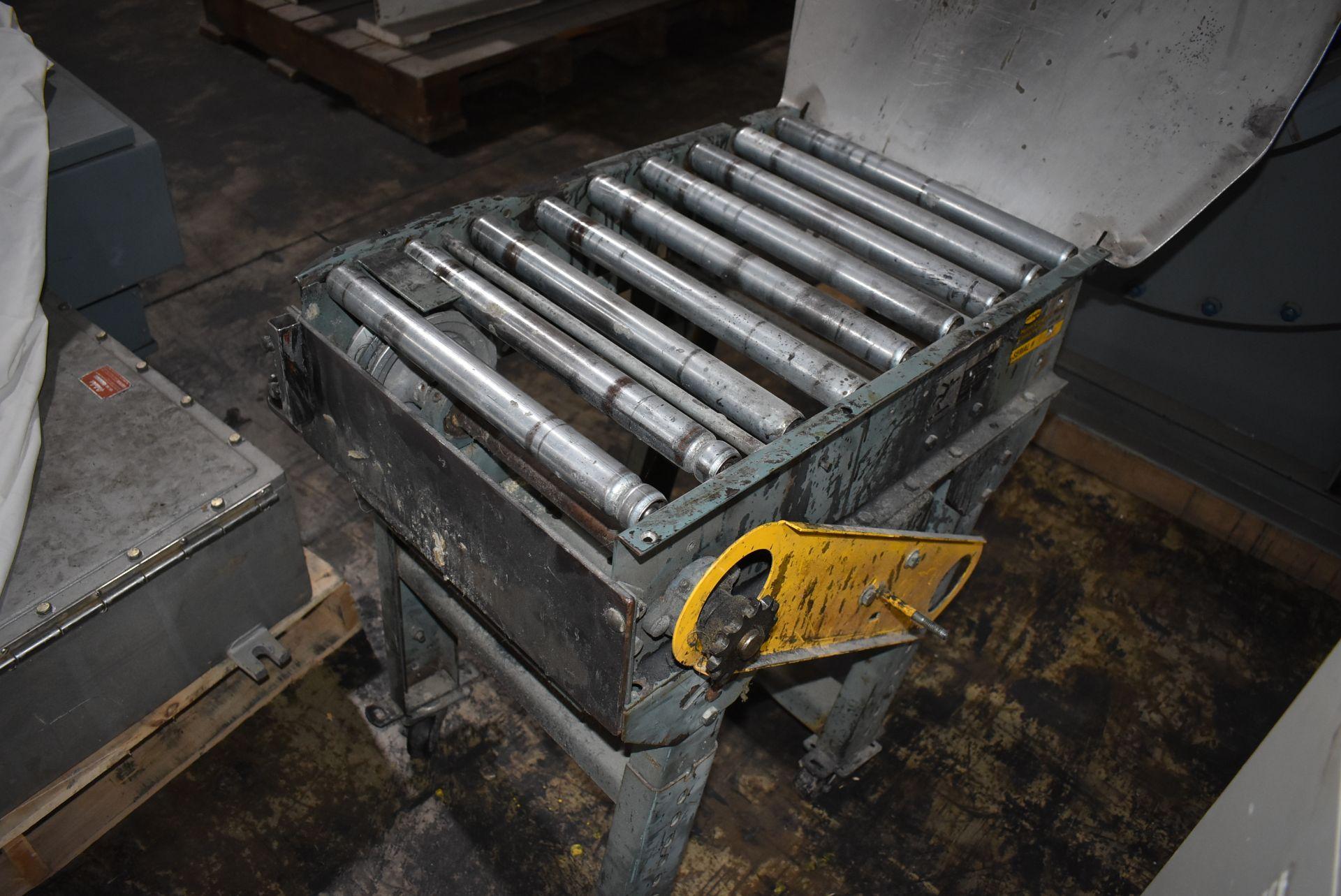 "Roller Conveyor, 24"" Length x 15"" Wide Rollers, Adjustable Leg Base - Image 2 of 2"