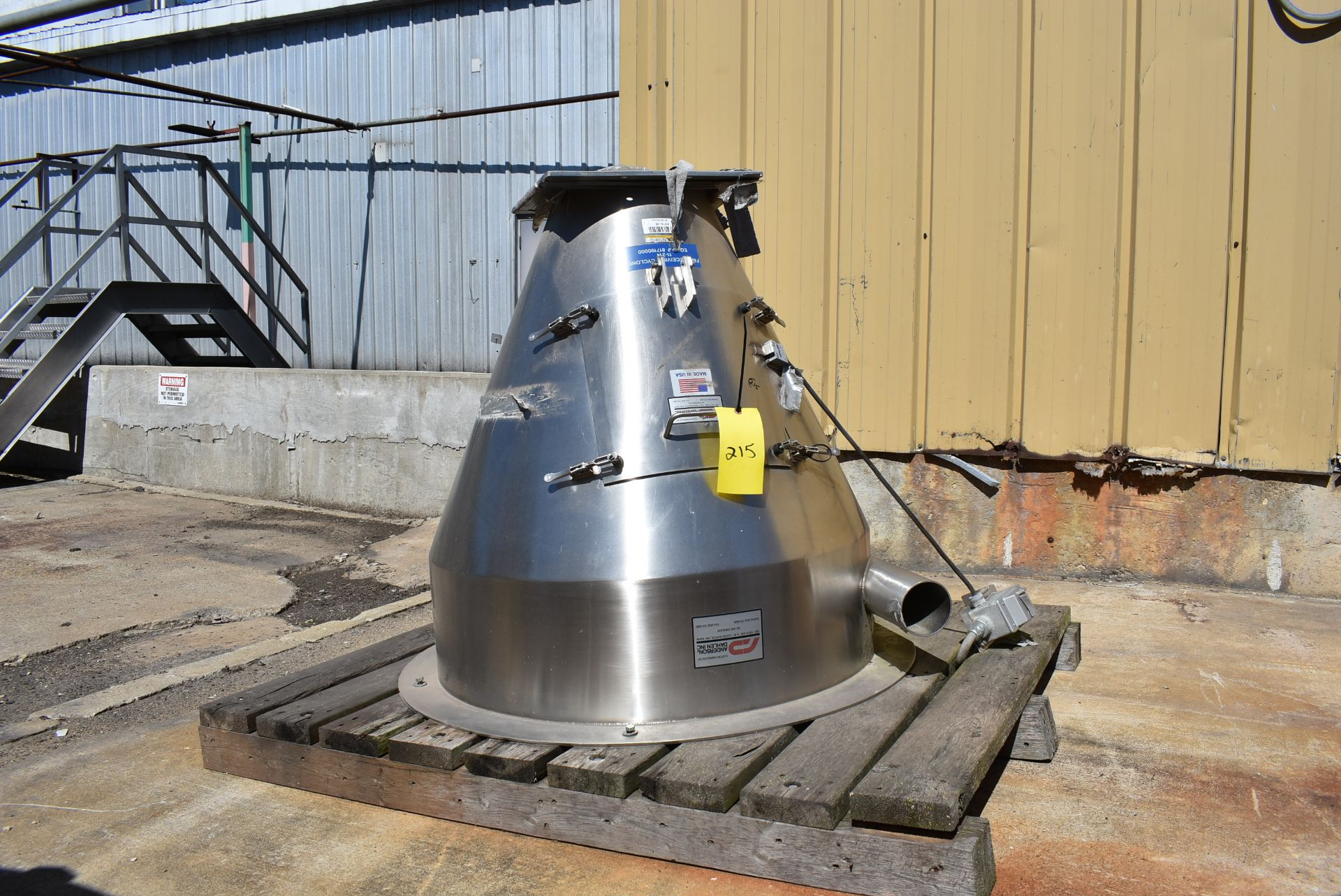 Anderson Dahlen FMC Stainless Steel Receiving Cyclone - Image 2 of 2