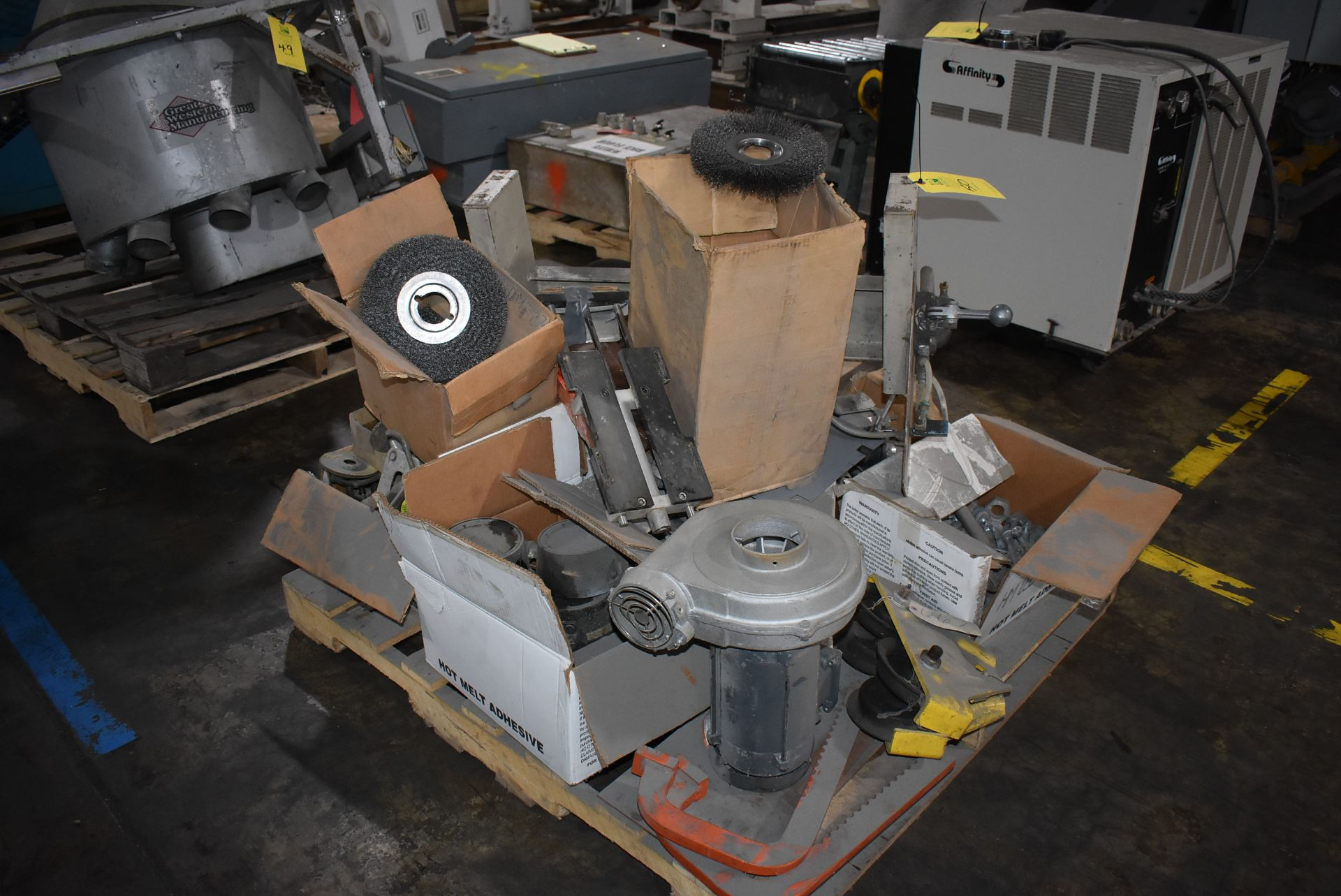 Plant Support - Budgit Hoist Trolley, Assorted Wire Wheels, Blower & Components - Image 2 of 3